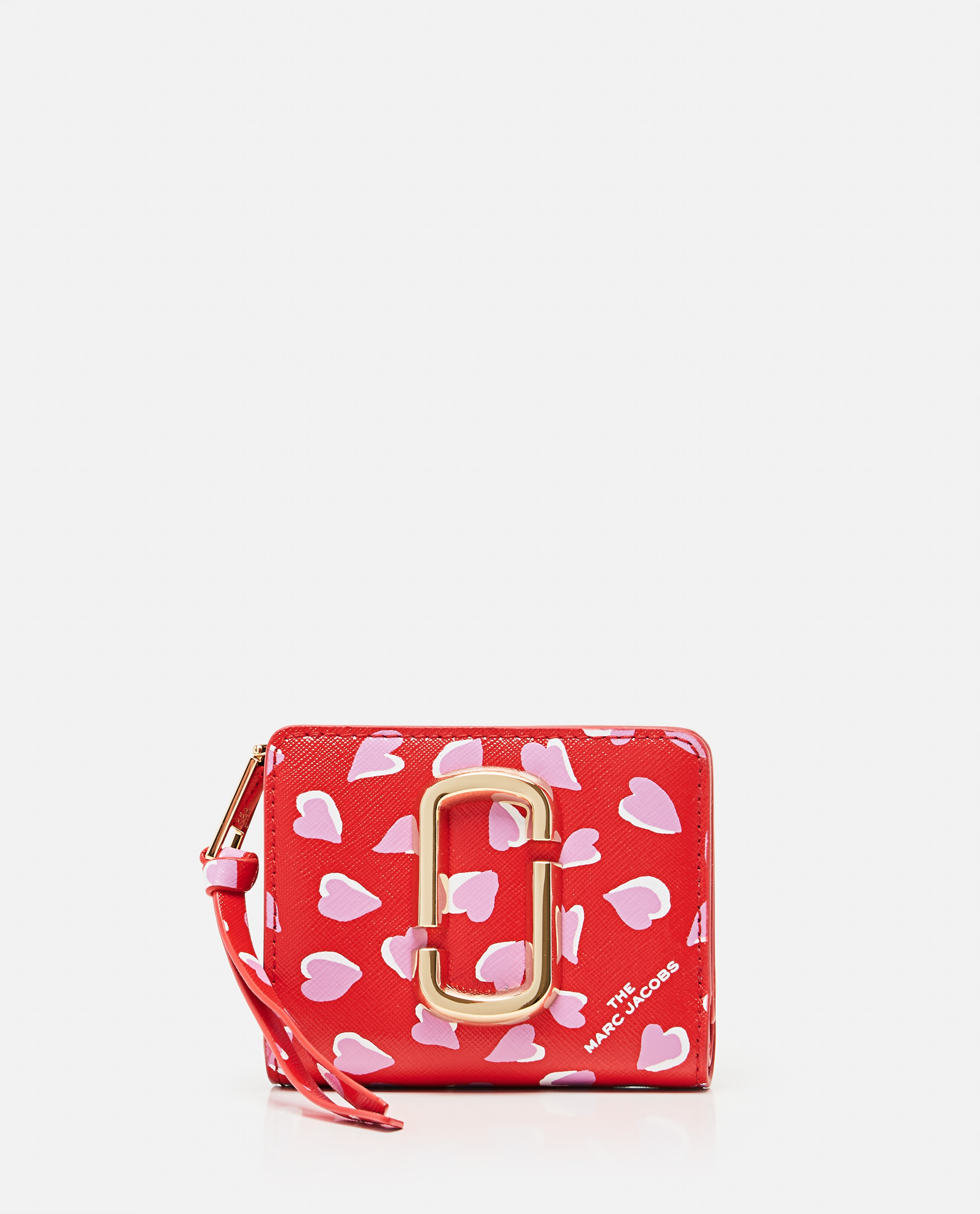 Marc Jacobs MARC JACOBS THE SNAPSHOT PRINTED HEARTS MINI COMPACT WALLET