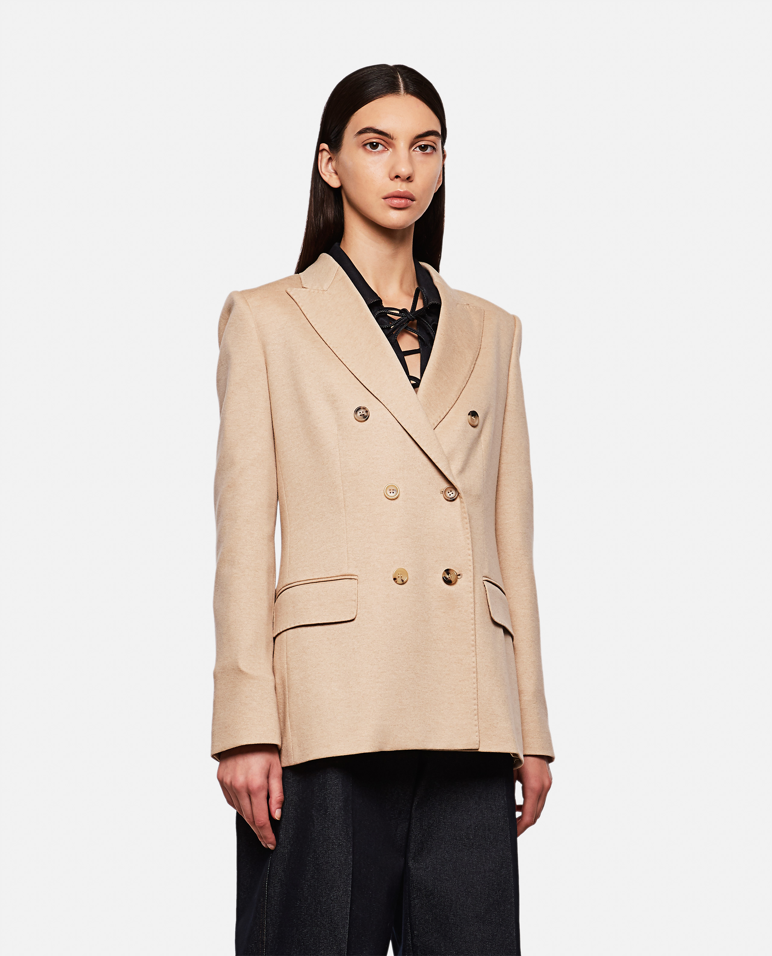 Max Mara MAX MARA CAMEL-COLORED WOOL BLAZER