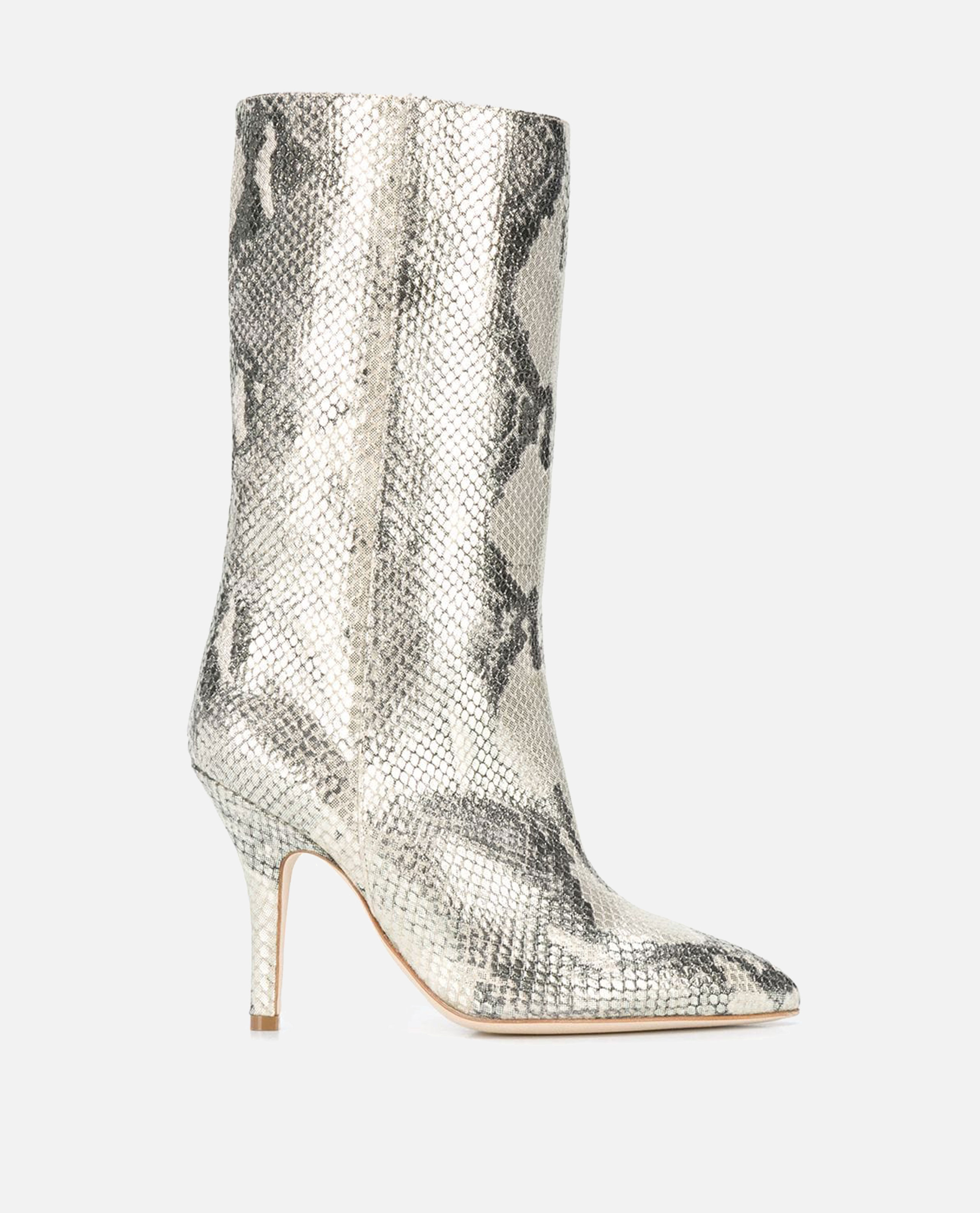 Image of Paris Texas boots in python print