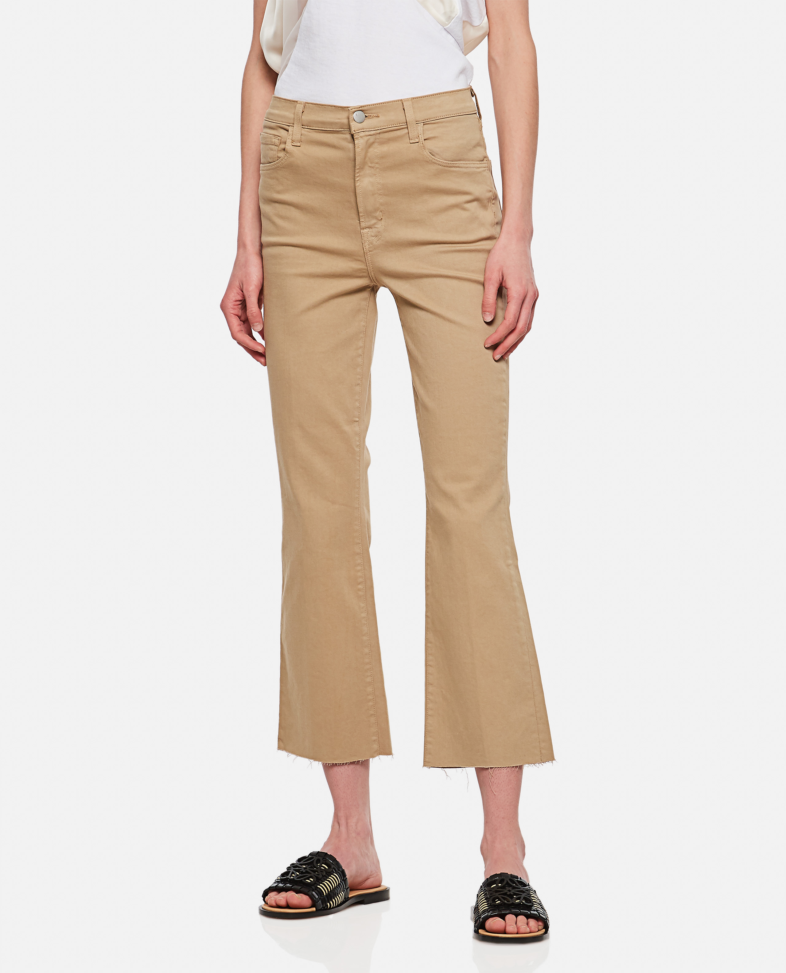J Brand J BRAND CROPPED BELL-BOTTOMS TROUSERS