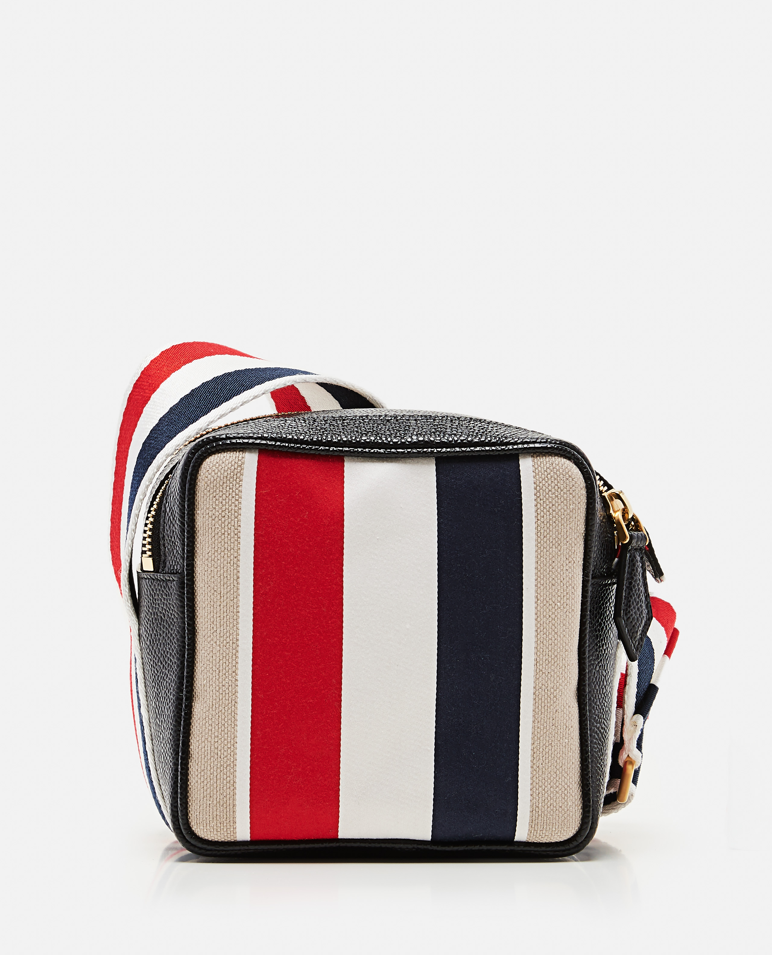 Multicolor striped shoulder strap