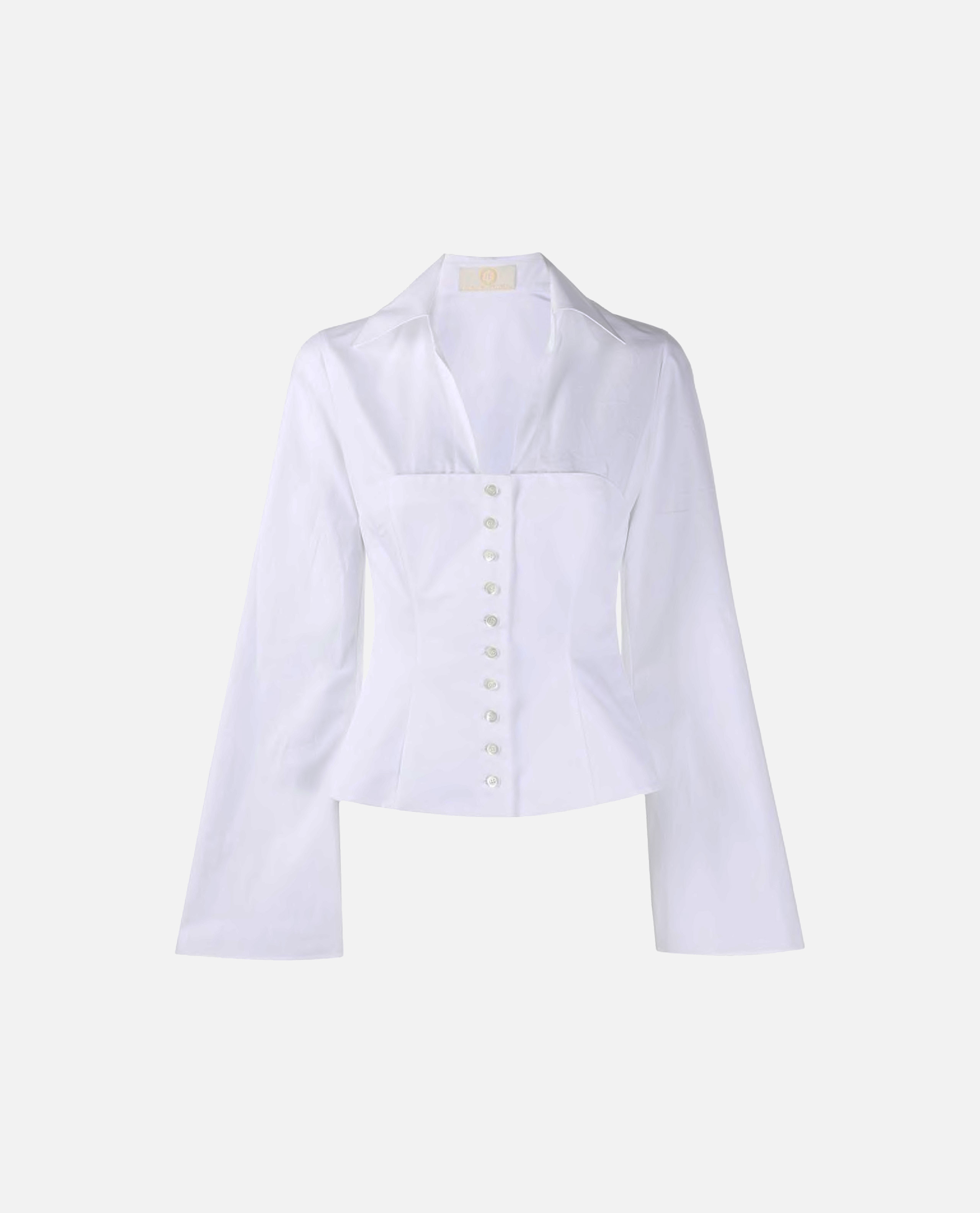 Image of shirt with V-neck