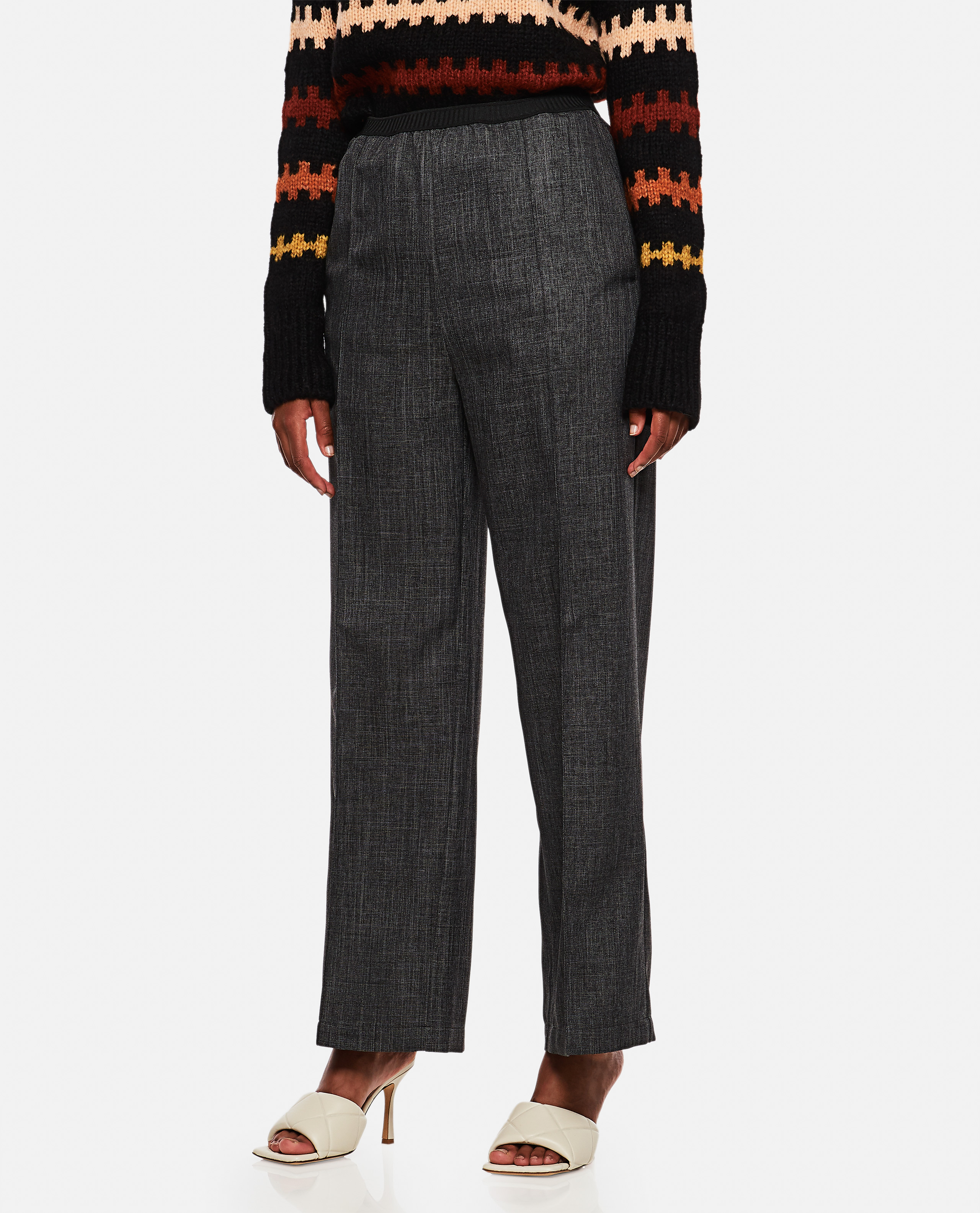 Relaxed fit long trousers