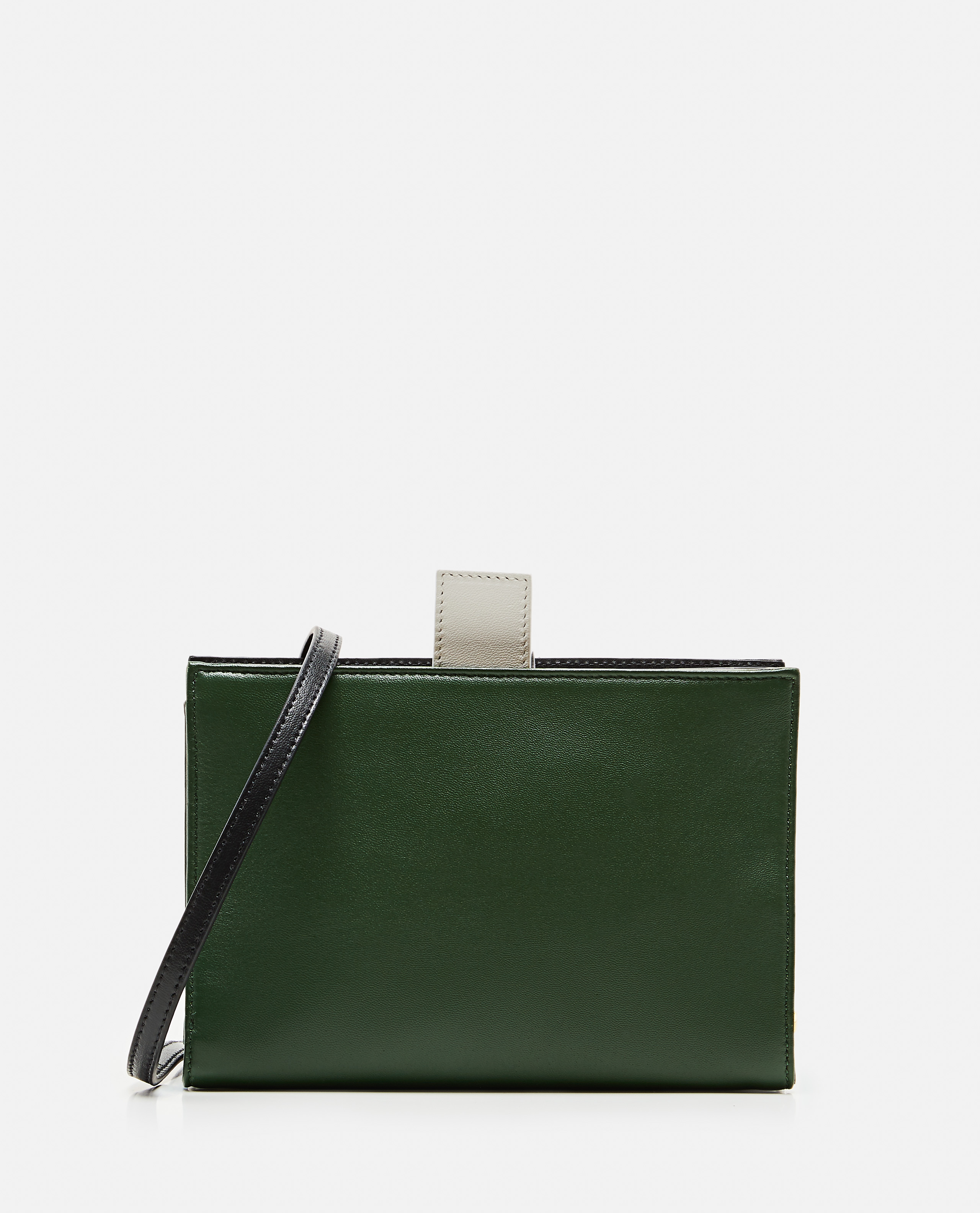 Two-tone color block shoulder bag