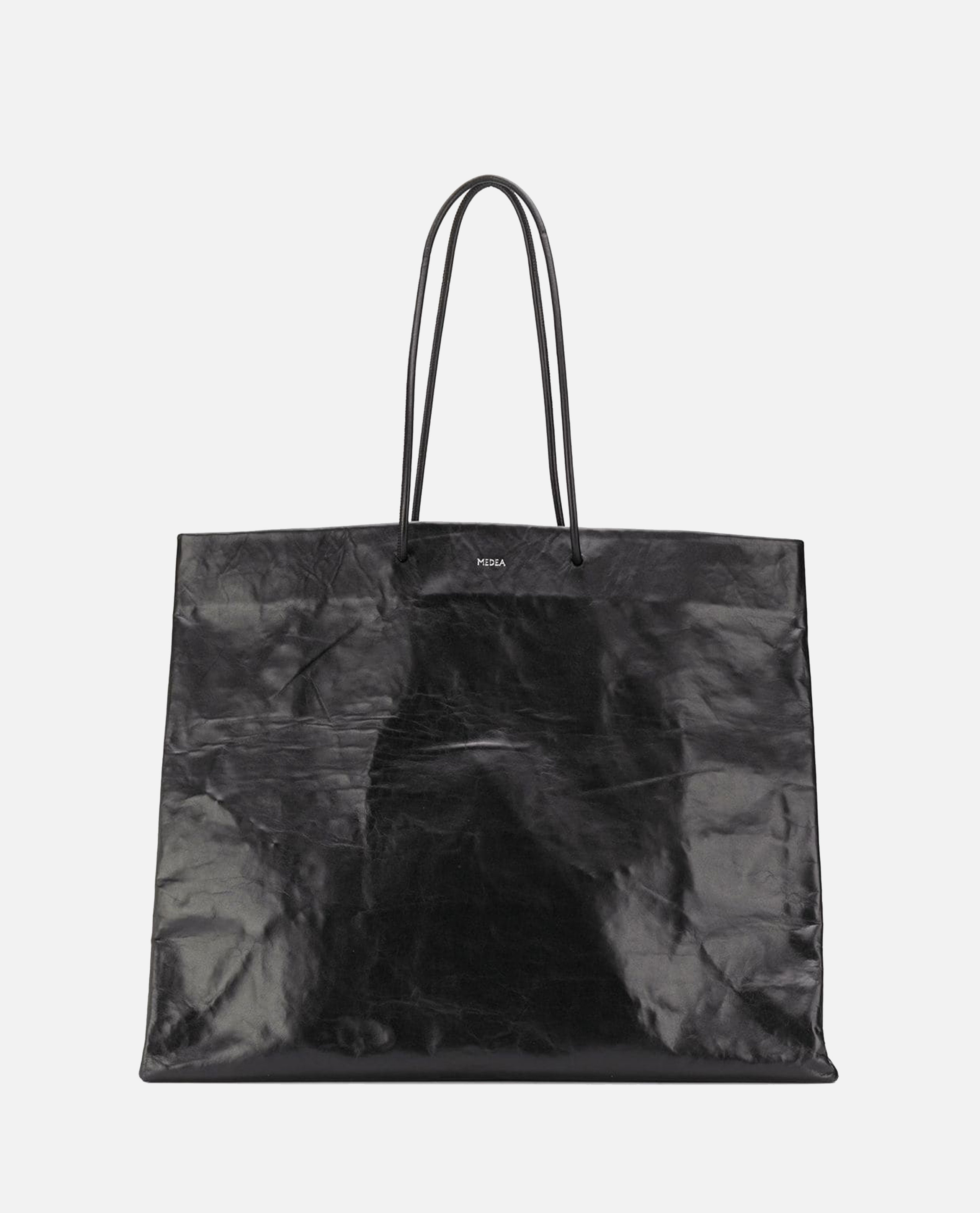 Tote bag with creased effect