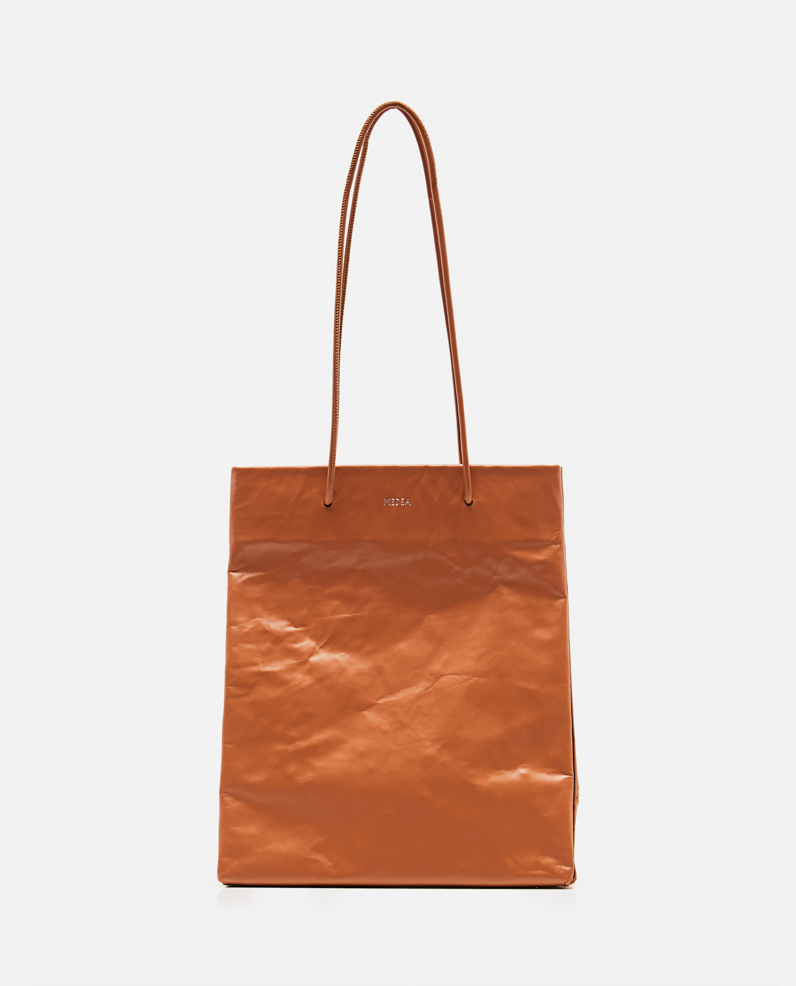 Tote bag with wrinkled effect