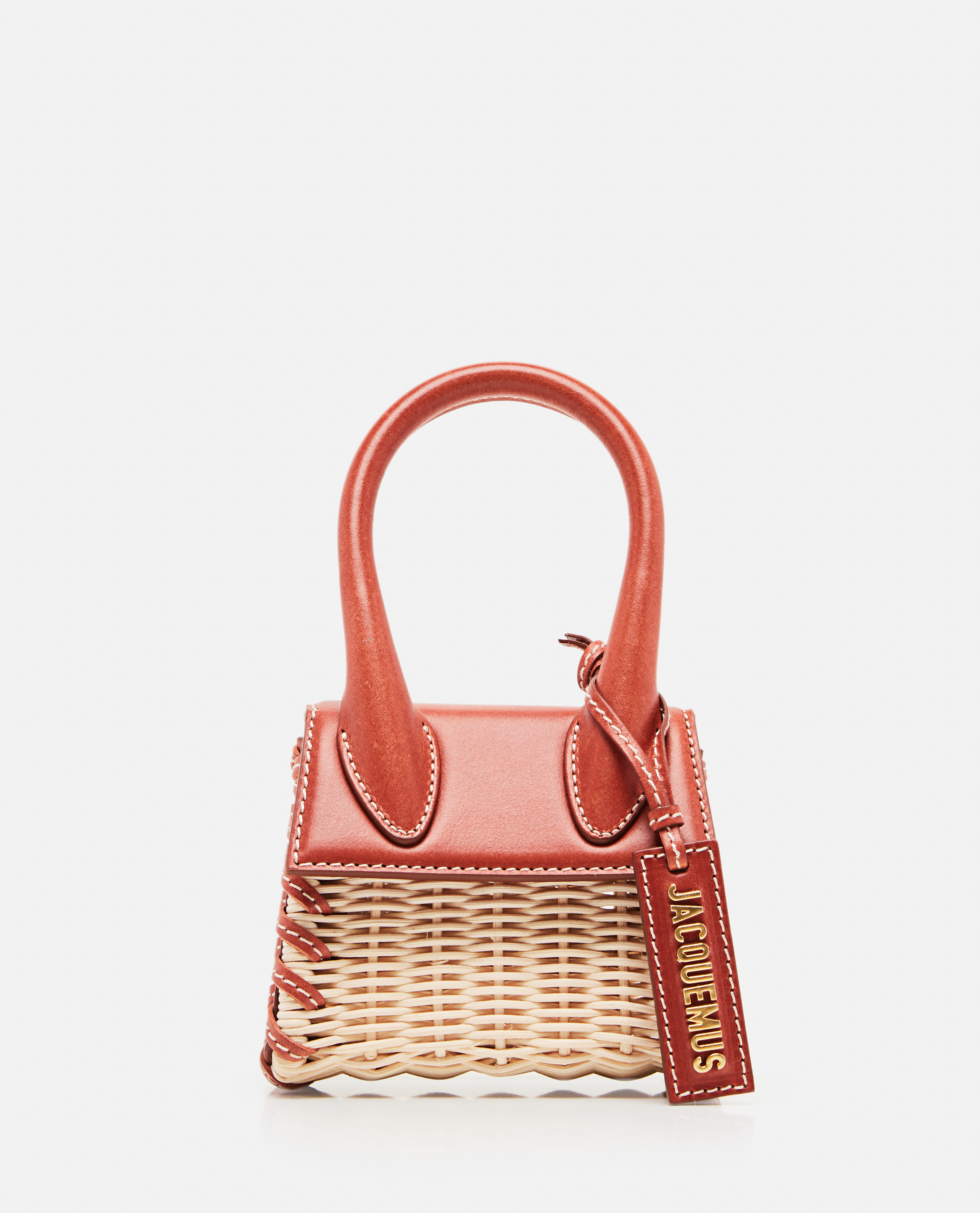 Jacquemus Le Chiquito Mini Leather Bag In Red
