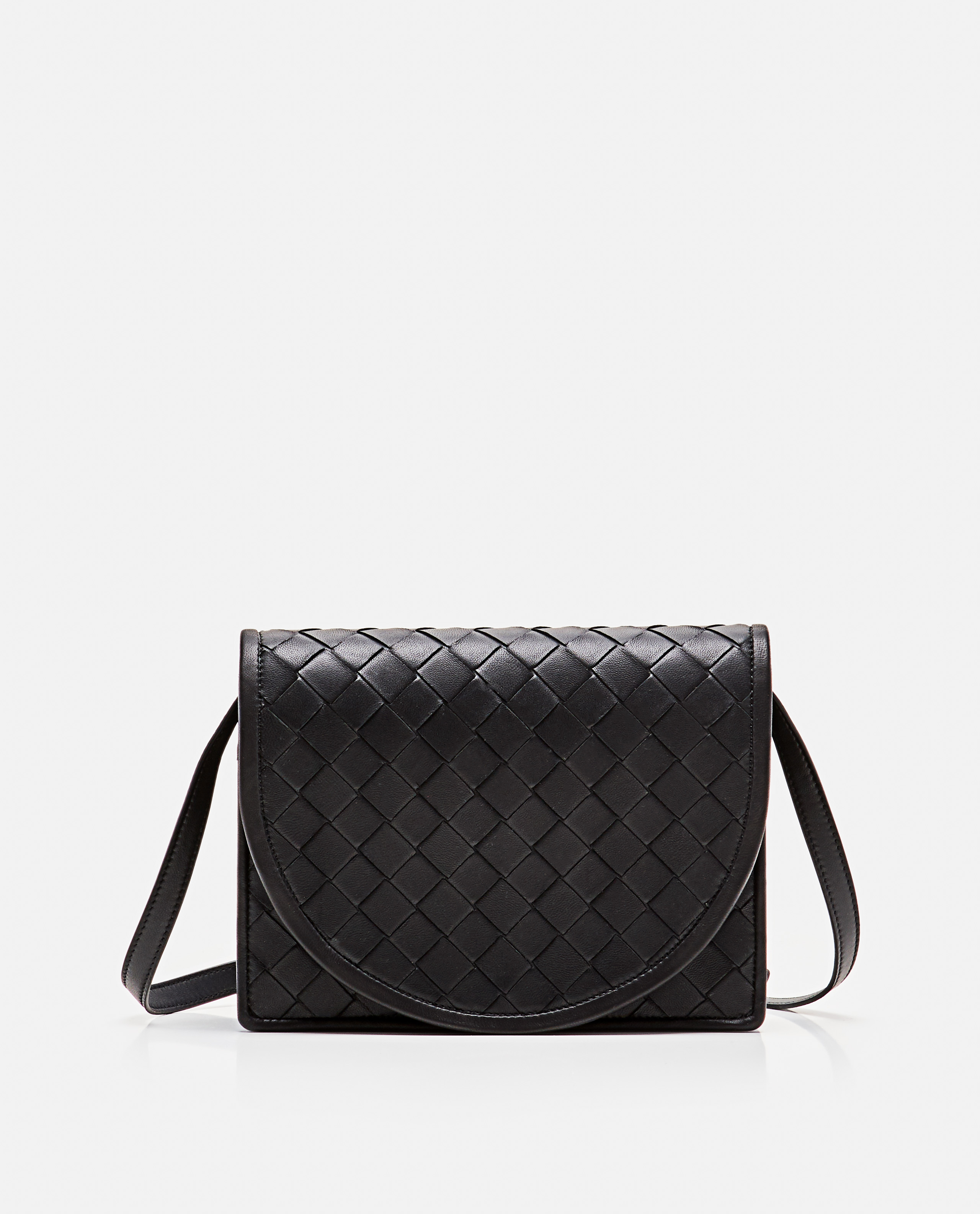 Mini Cross-Body Bag In Woven Nappa And Calf Leather
