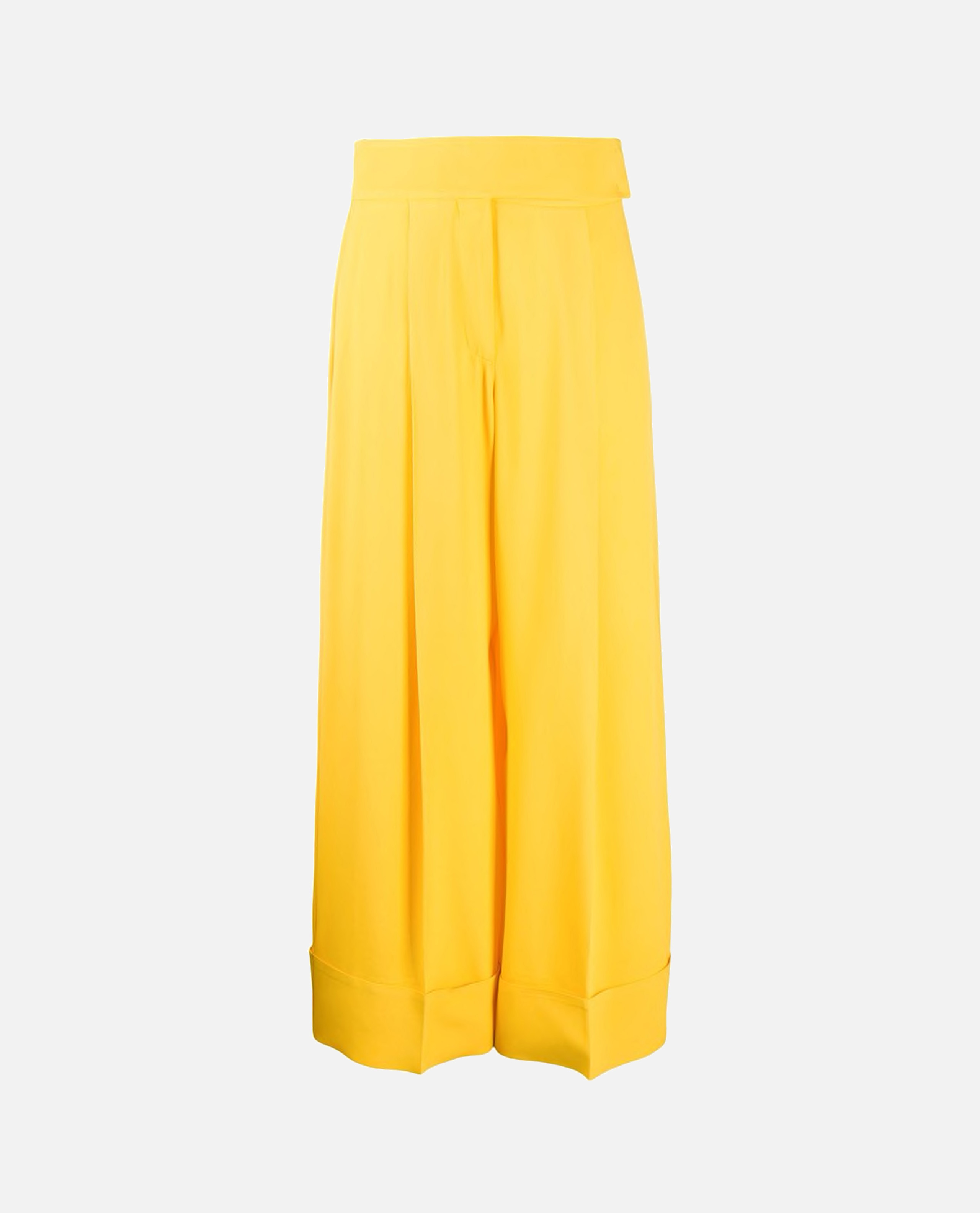 Image of Wide-leg crepe trousers