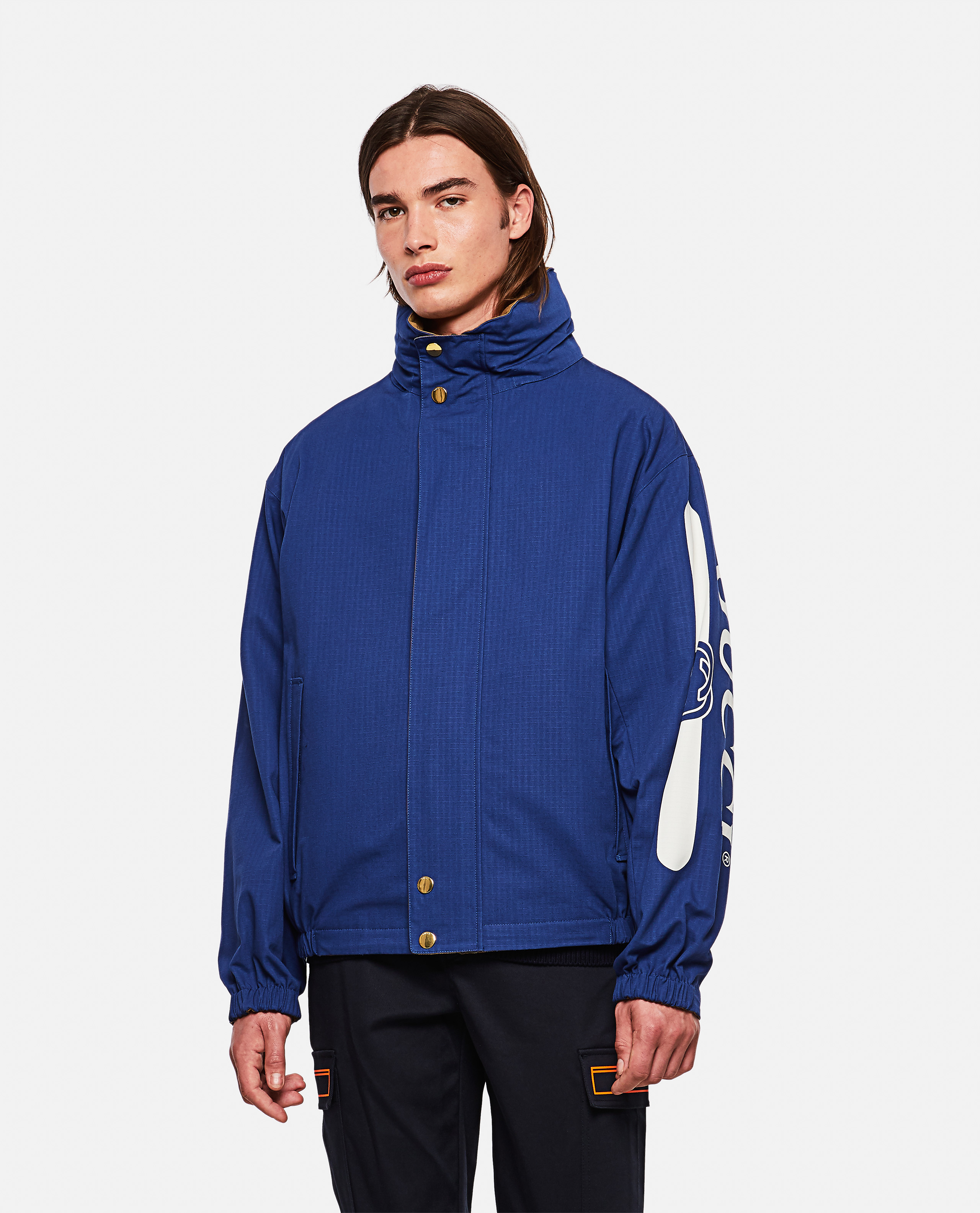 Reversible jacket with Gucci logo