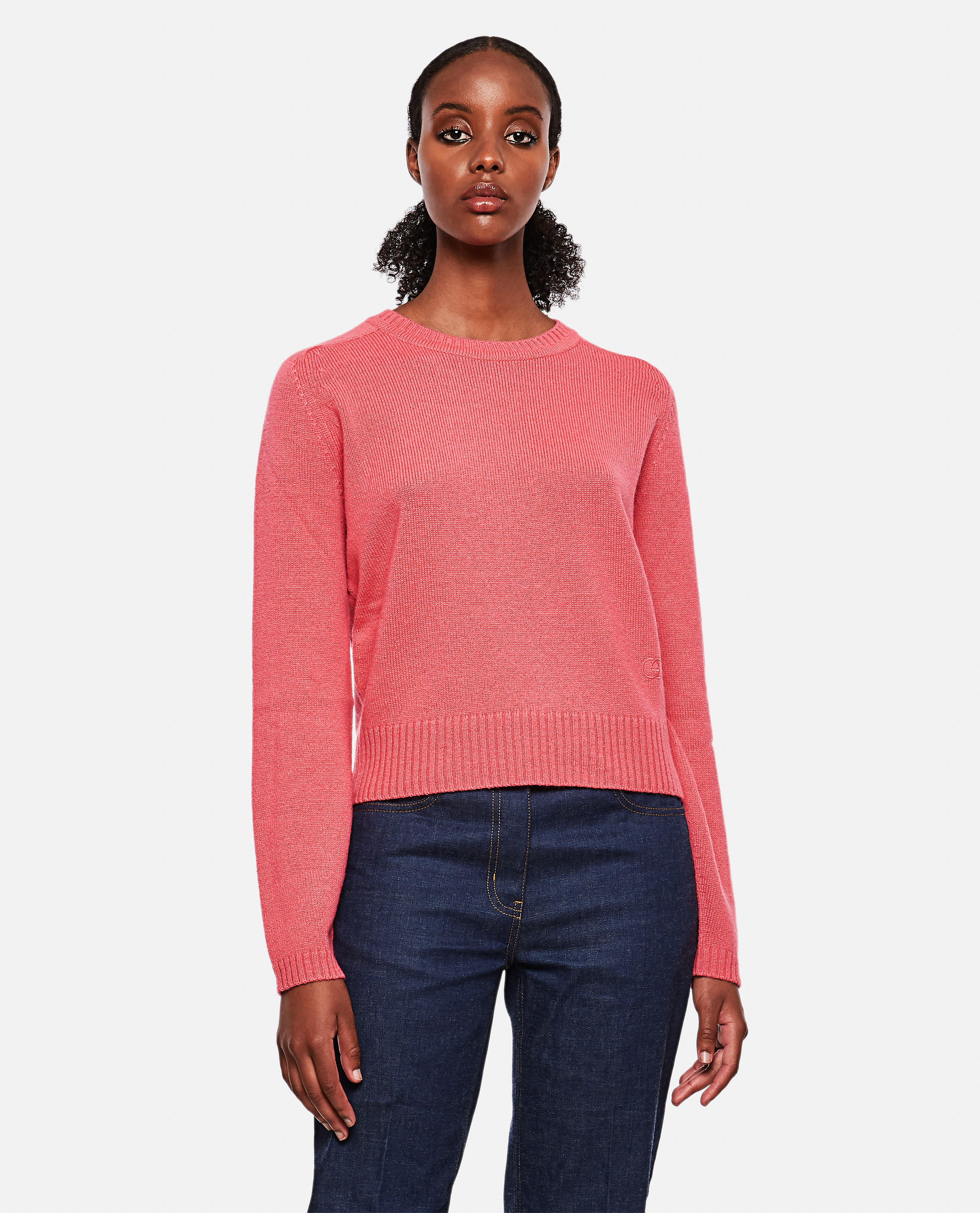 Cashmere sweater with logo