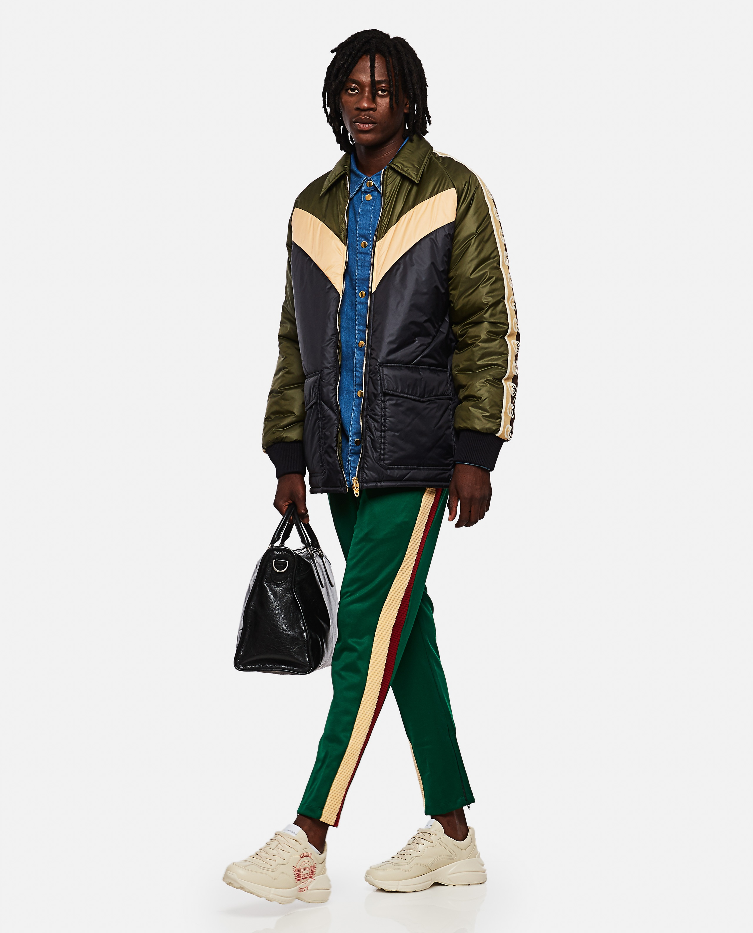 Jogging trousers in technical jersey Men Gucci 000267620039483 2