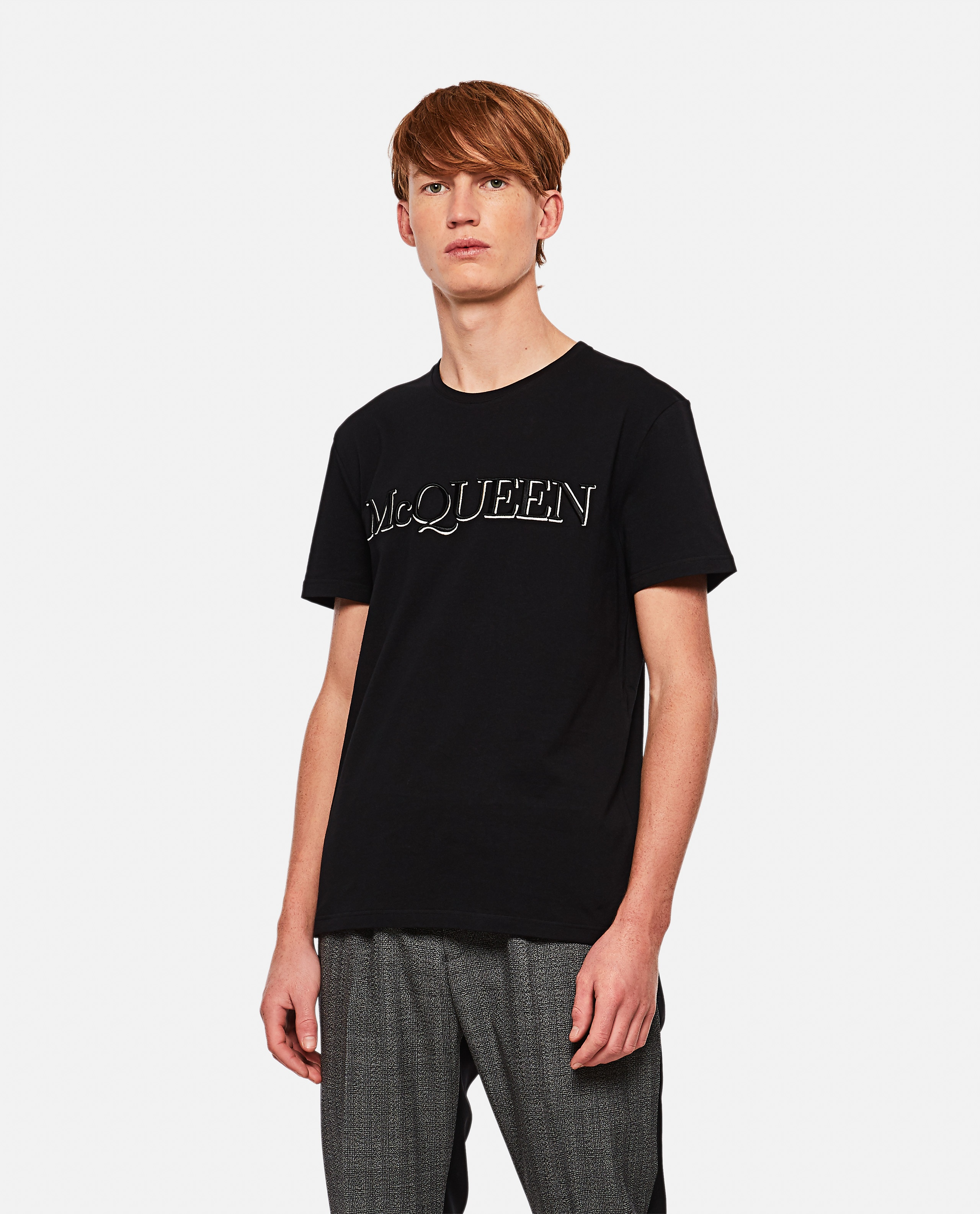 T-shirt with embroidery Men Alexander McQueen 000291000042842 1
