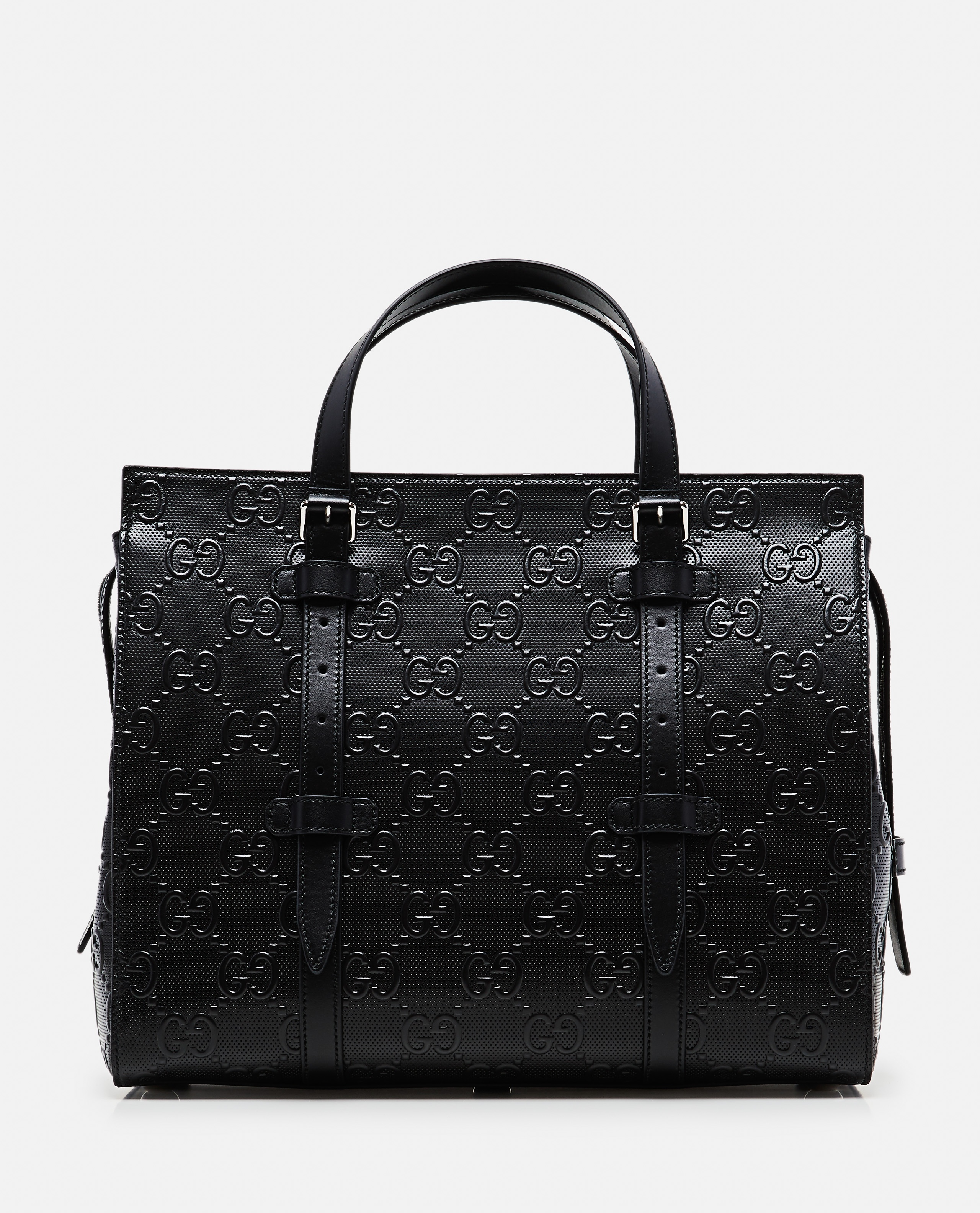 Shopping bag with embossed GG motif Men Gucci 000268150039547 1