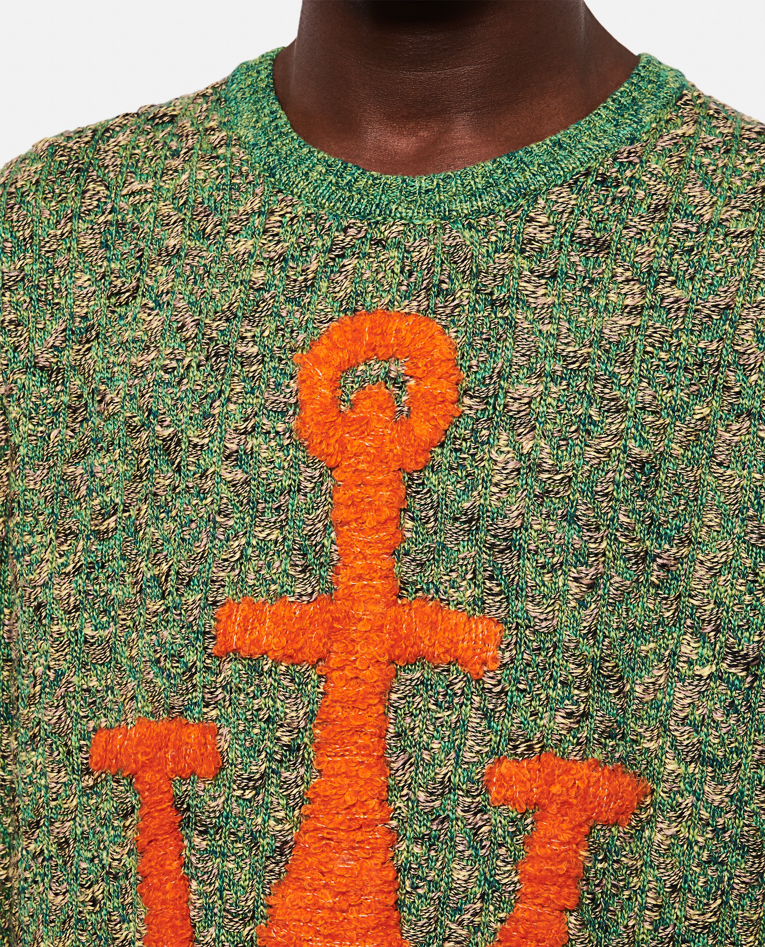 Knitted pullover with inlaid Anchor motif Men J.W. Anderson 000293170043180 4