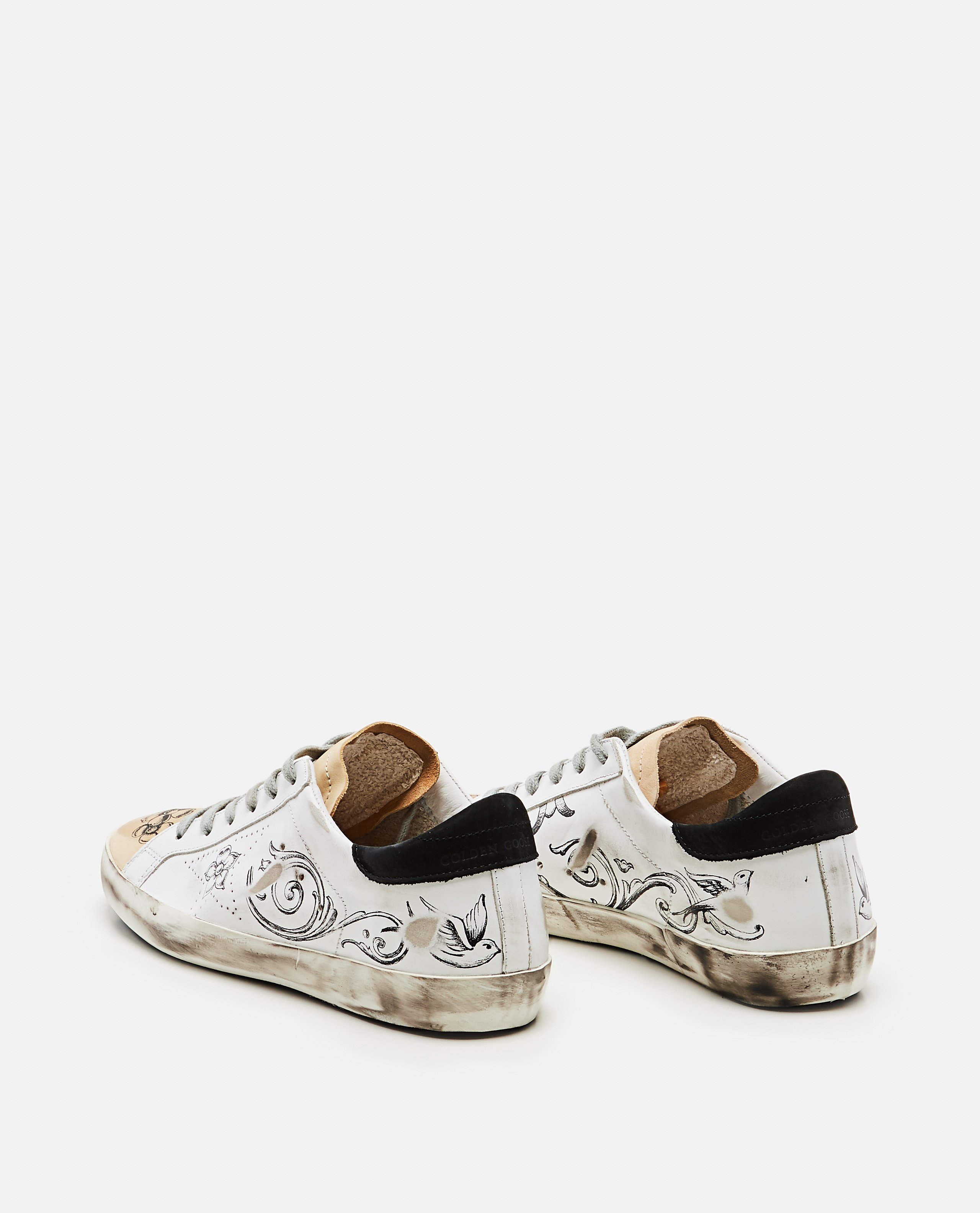 Super-Star sneakers with tattoo print Women Golden Goose 000256690037927 3