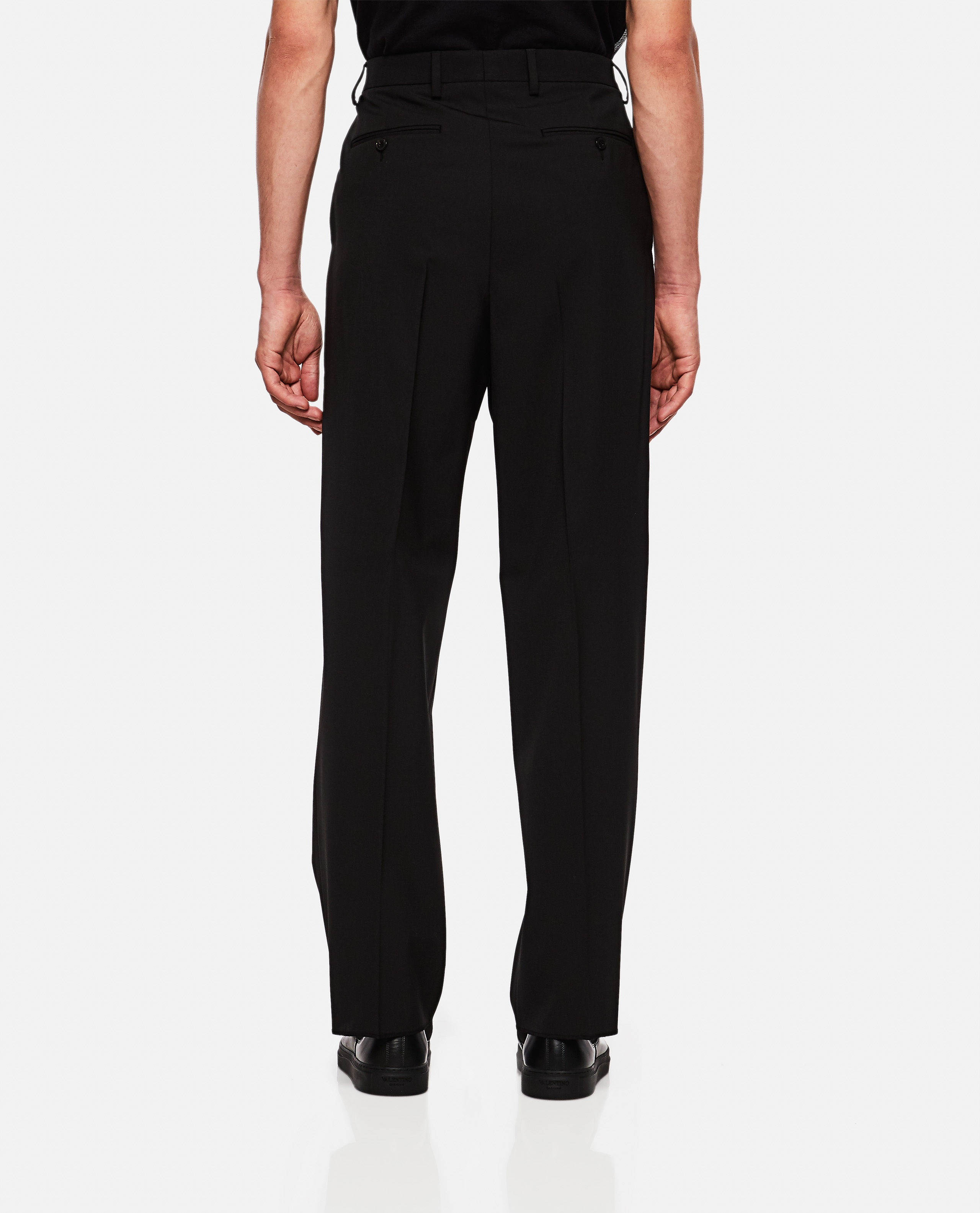 Valentino trousers in wool blend with buckle Men Valentino 000264010039012 3