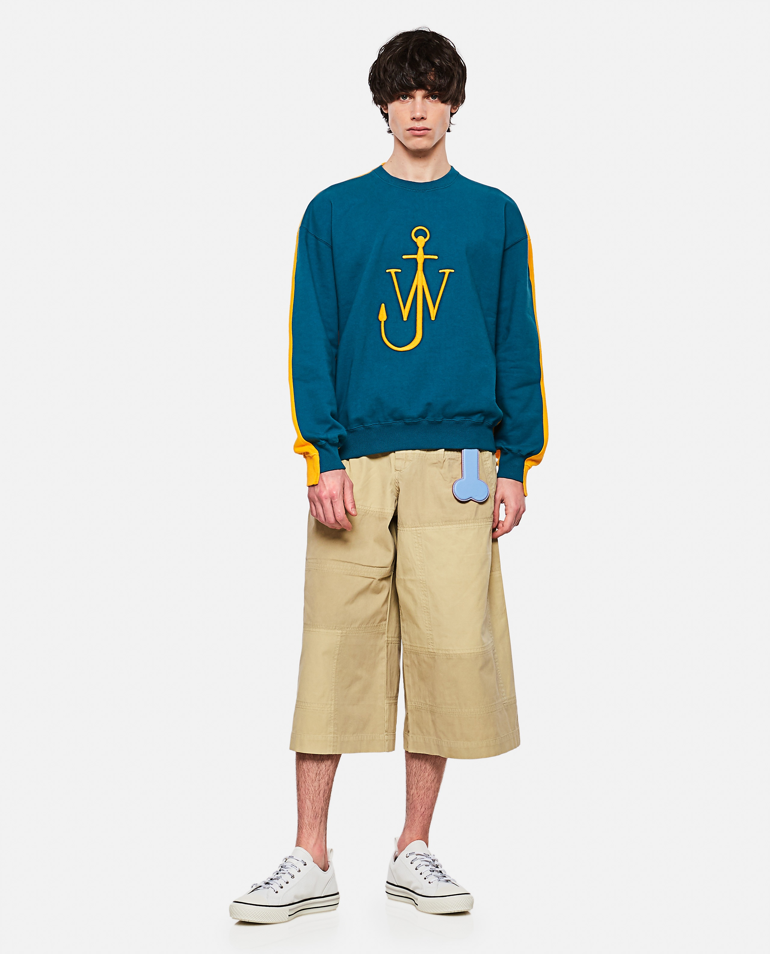 Patchwork cropped trousers Men J.W. Anderson 000293250043189 2