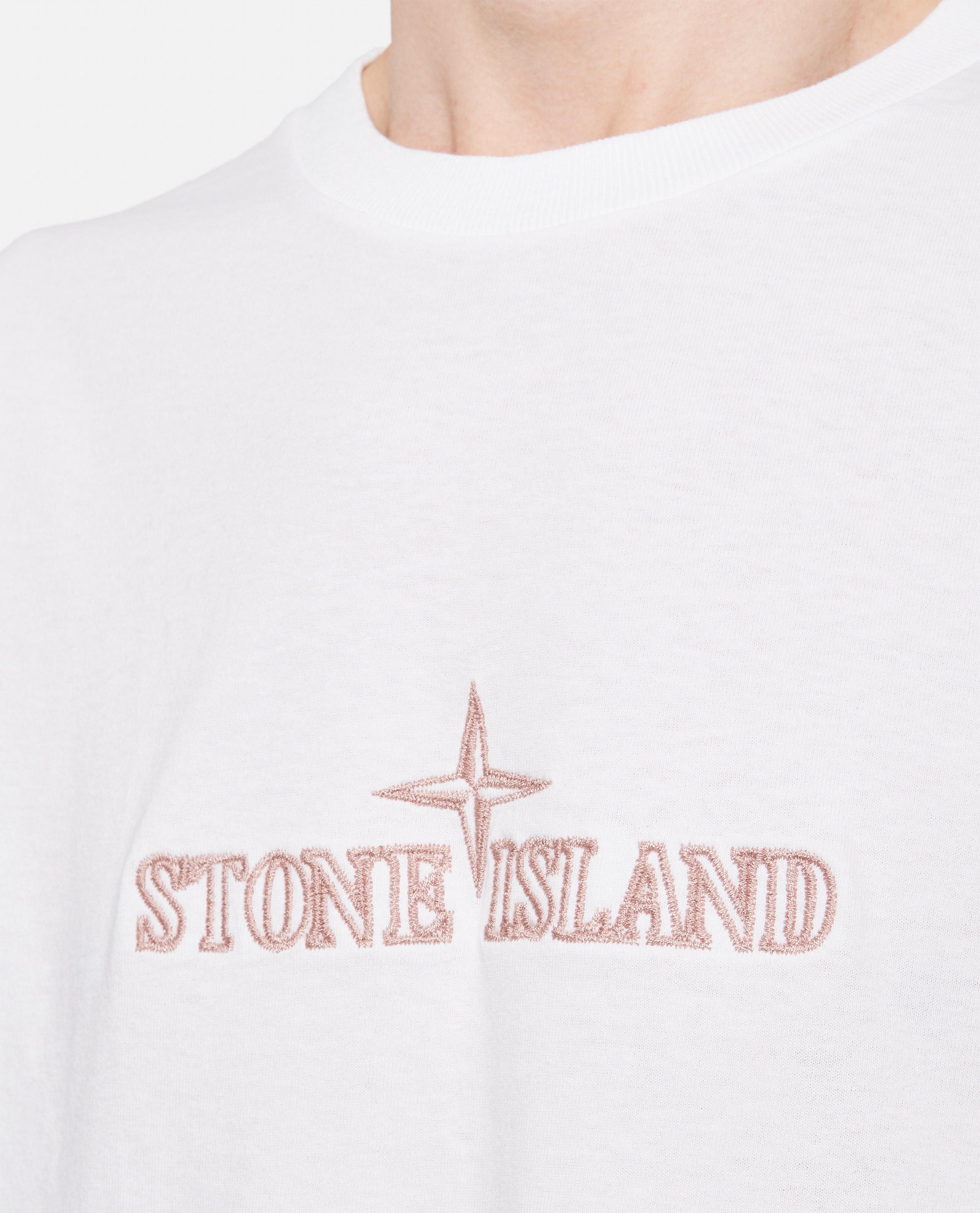 Cotton T-Shirt with embroidery Men Stone Island 000292710043106 4
