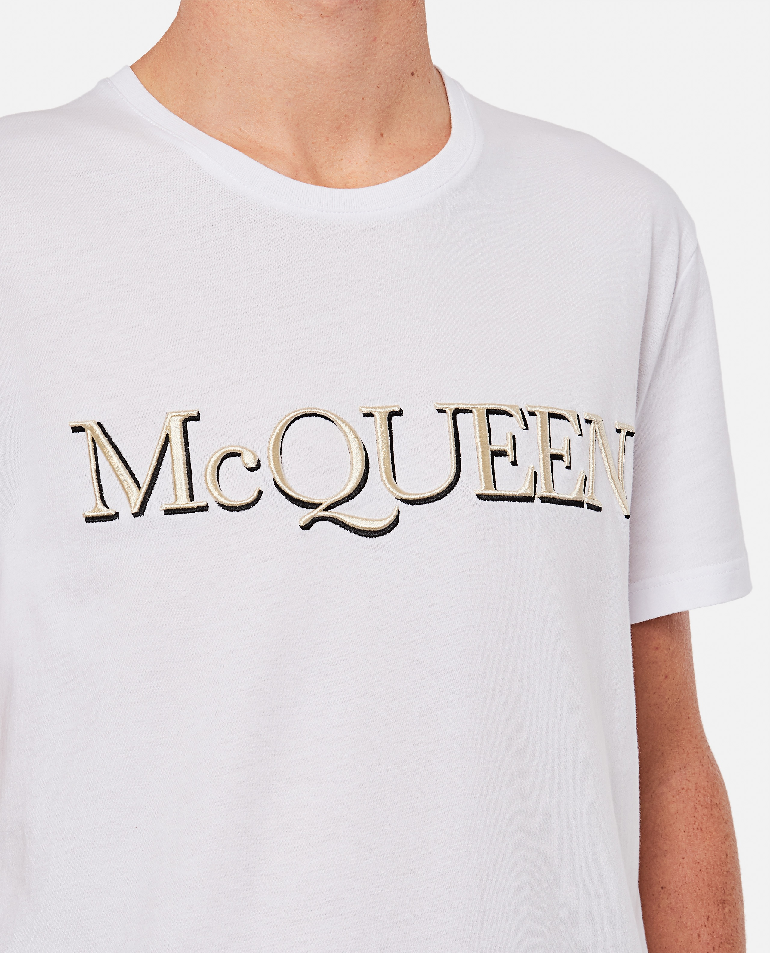 T-shirt with embroidery Men Alexander McQueen 000291000042843 4