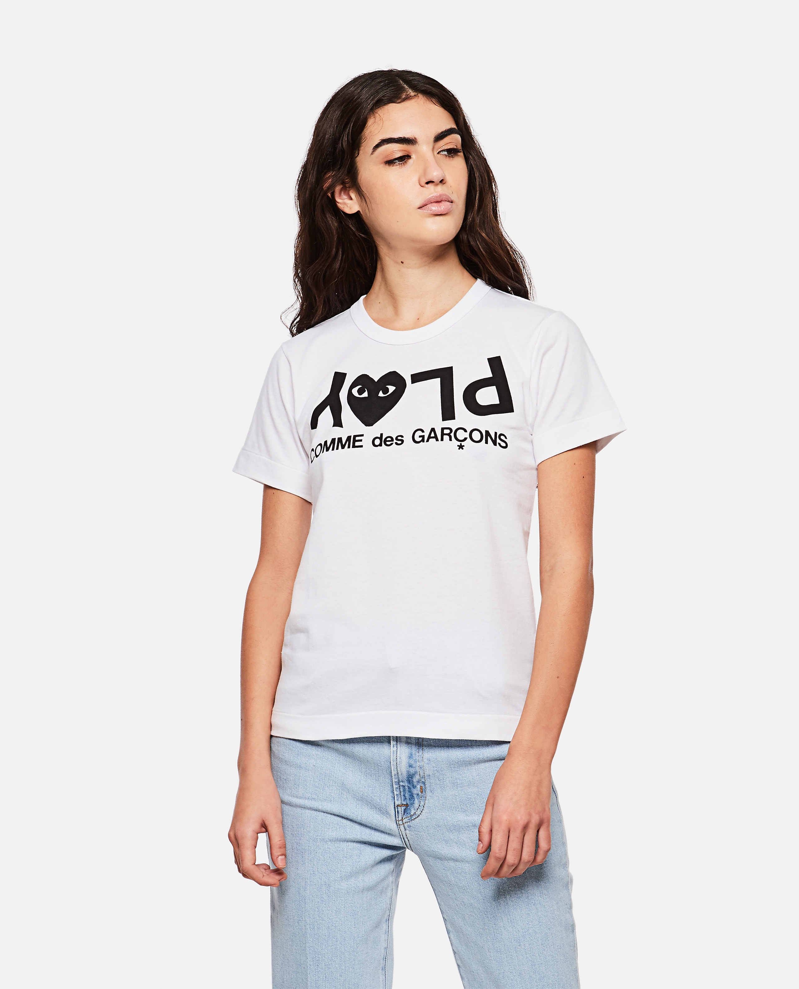 T-shirt with logo print Women Comme des Garcons Play 000267320039445 1