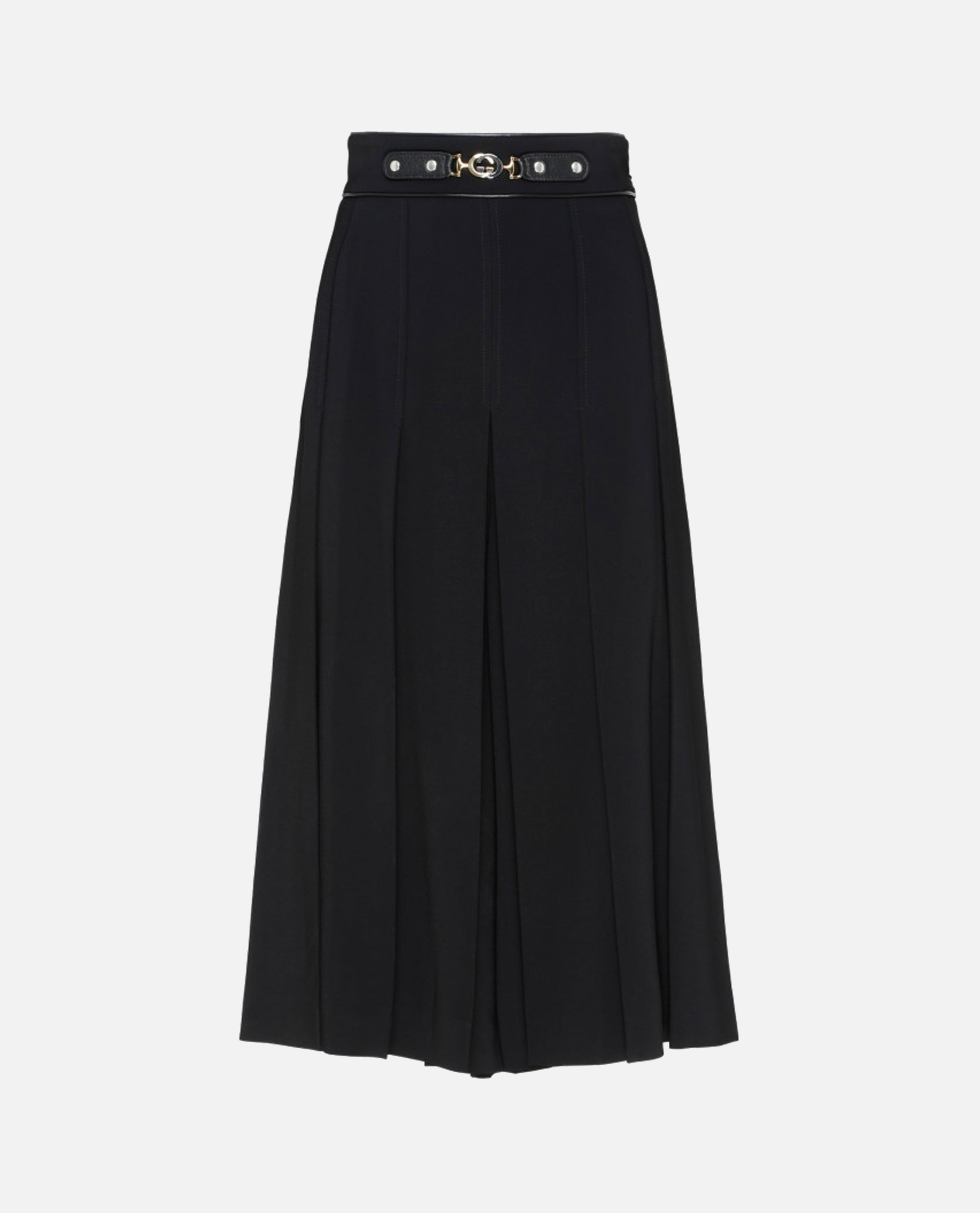 Culotte trousers with black horsebit Women Gucci 000219730032523 1