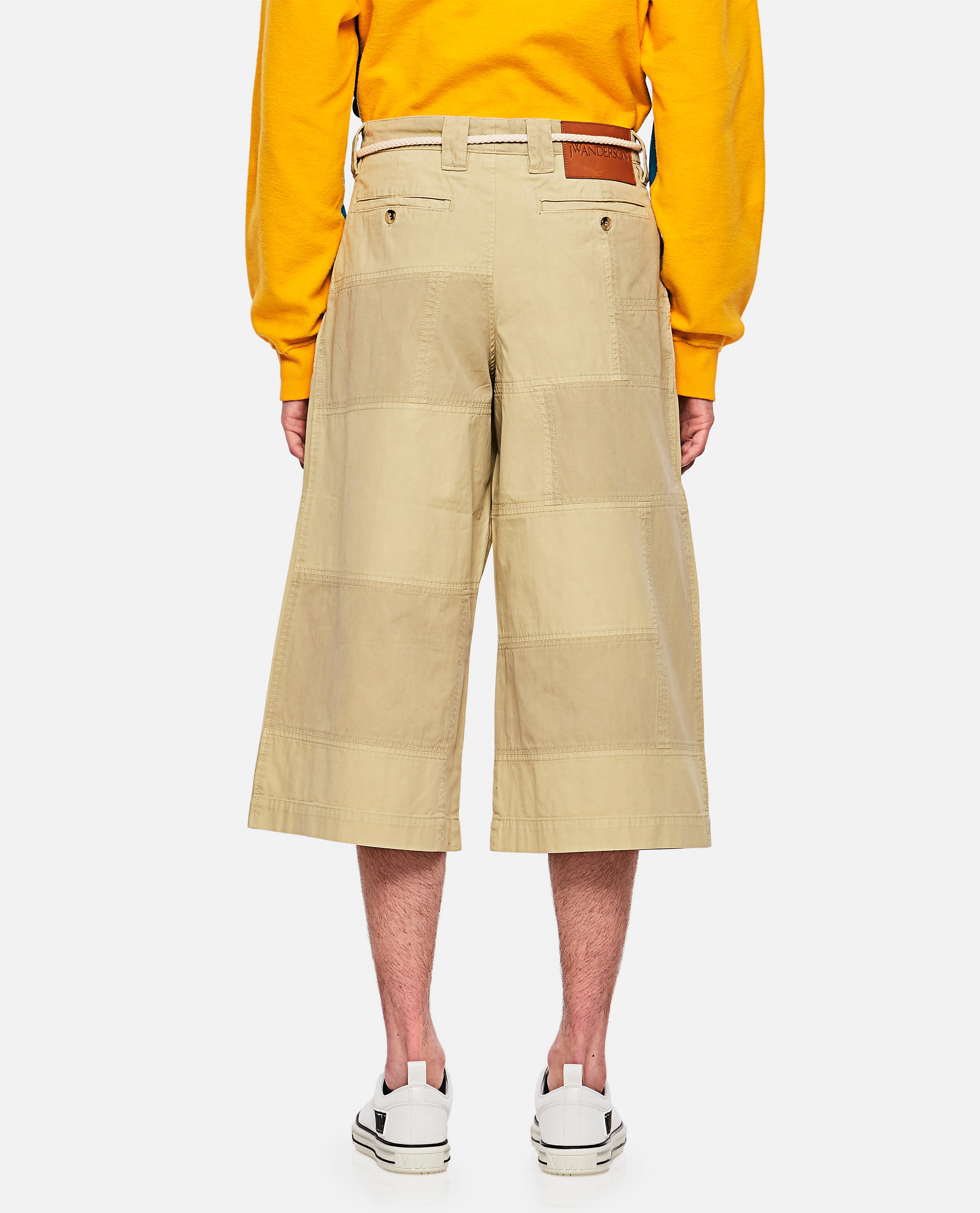 Patchwork cropped trousers Men J.W. Anderson 000293250043189 3