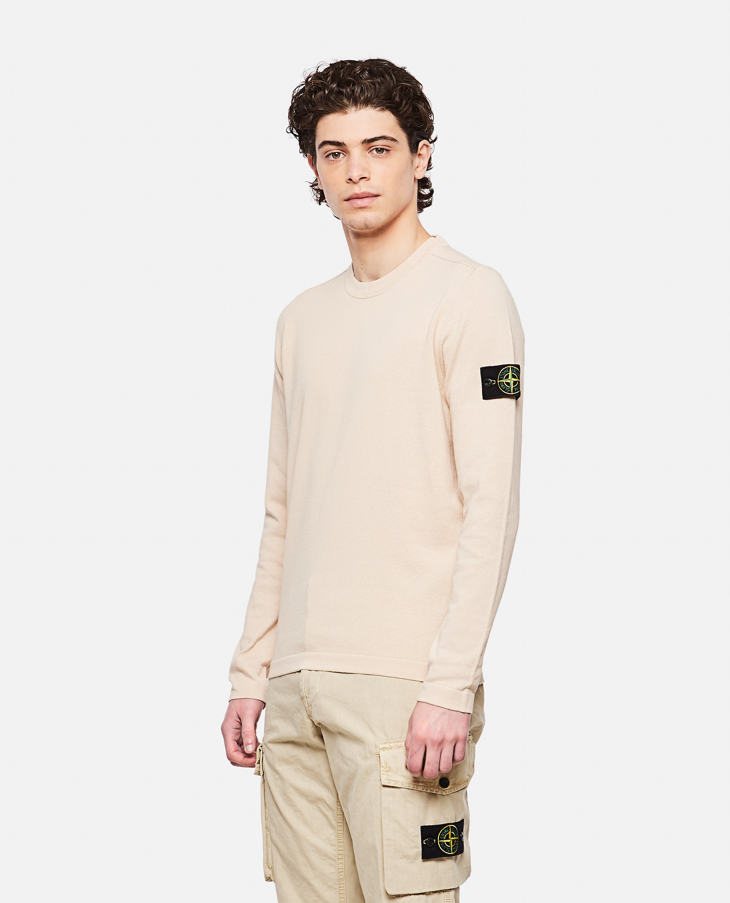 Sweater with logo patch Men Stone Island 000292730043111 1