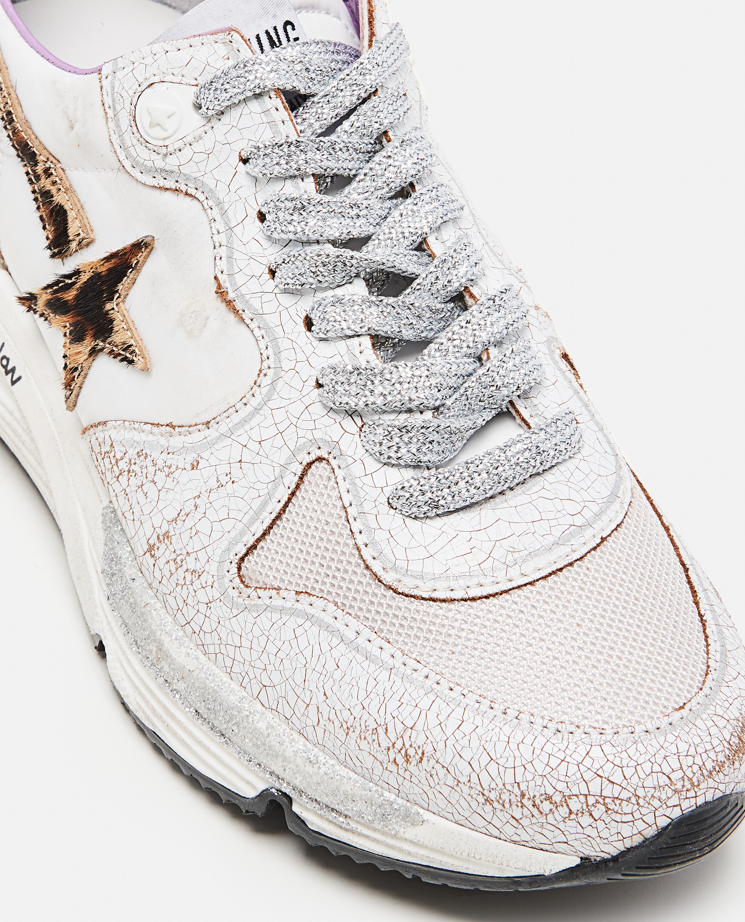 Golden Goose running sole sneakers in nylon and crackle leather Donna Golden Goose 000286920042316 4