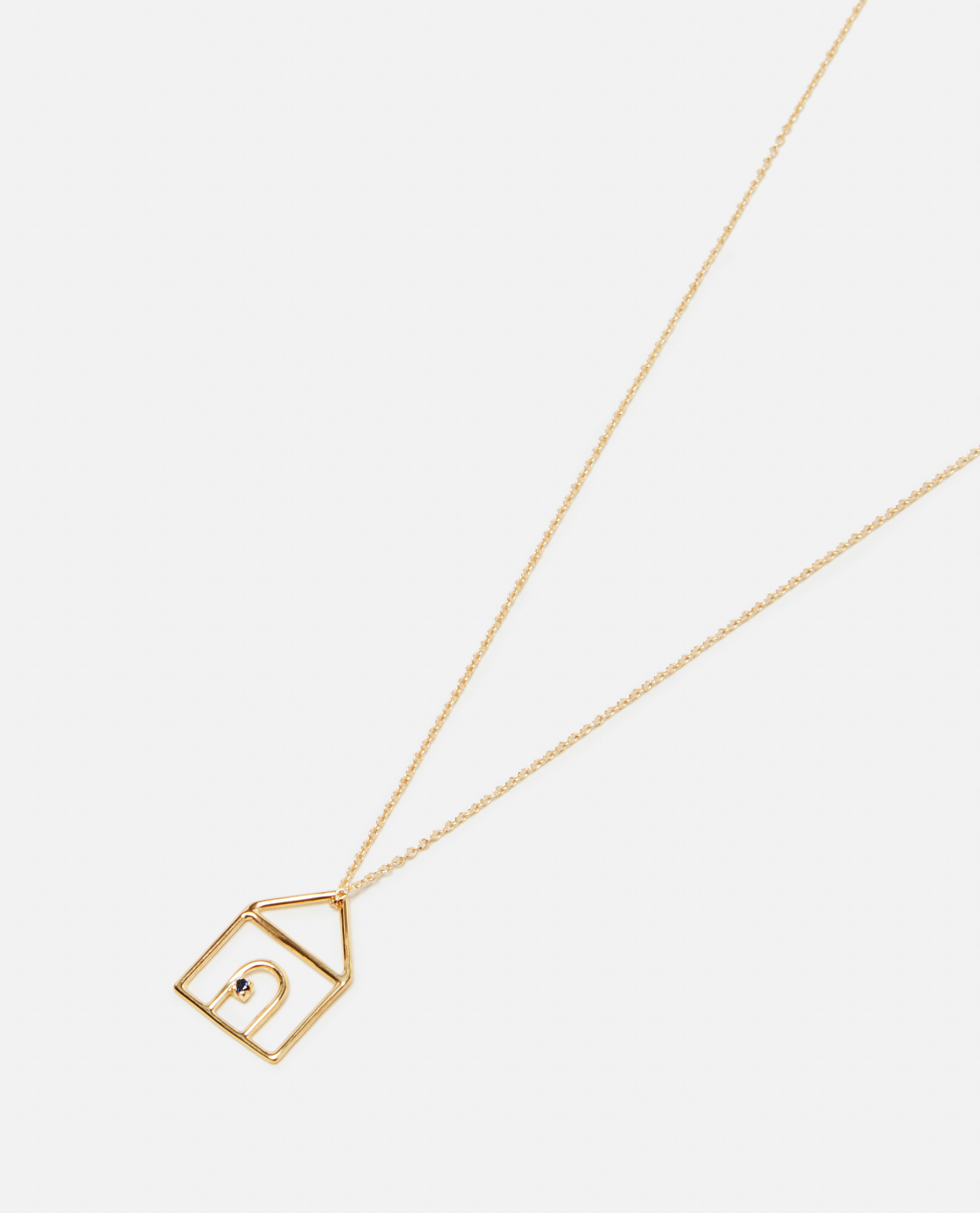 Casita necklace with pendant in 9kt yellow gold and sapphires Women Aliita 000291880042985 2