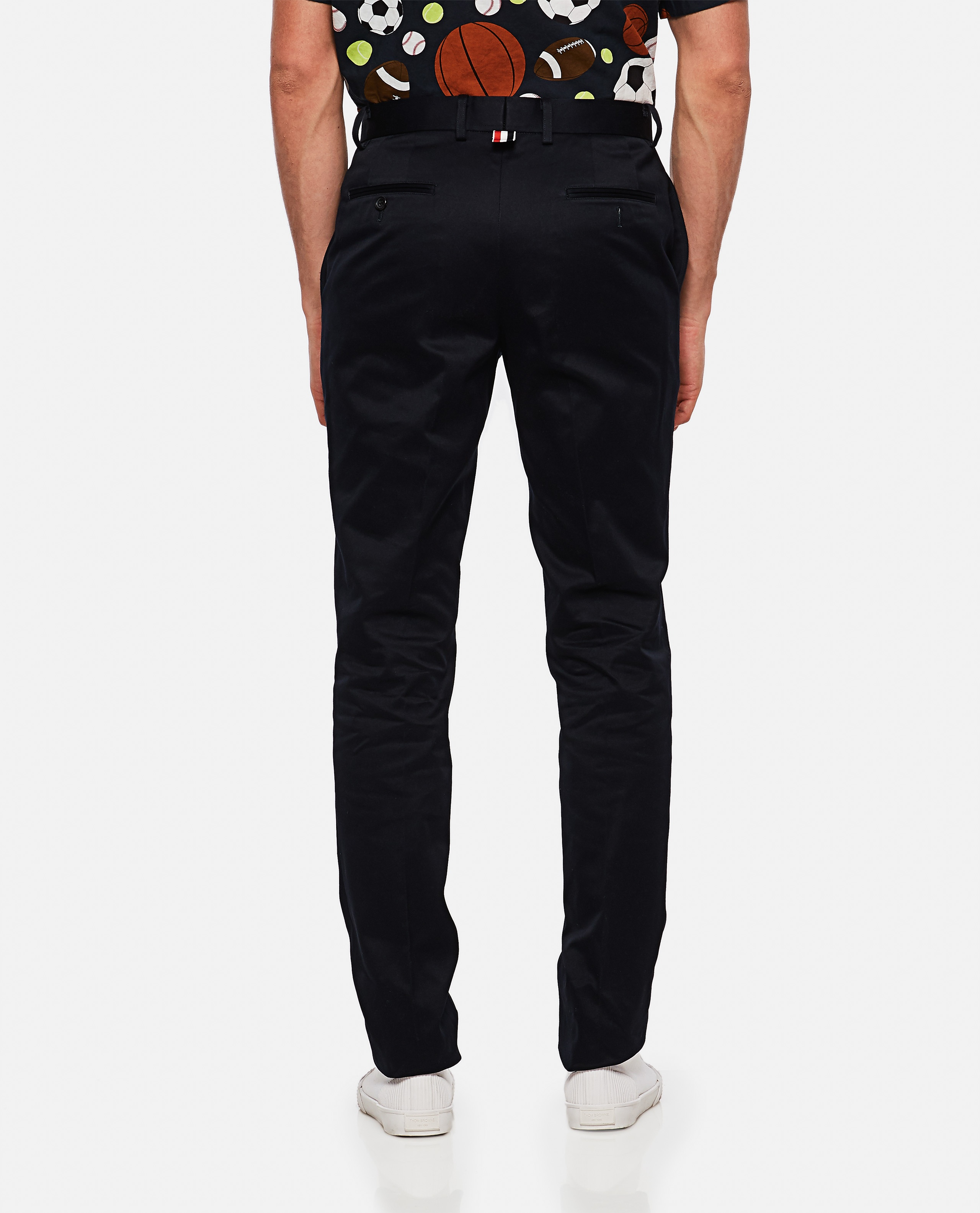 Cotton twill trousers Men Thom Browne 000215830032004 3