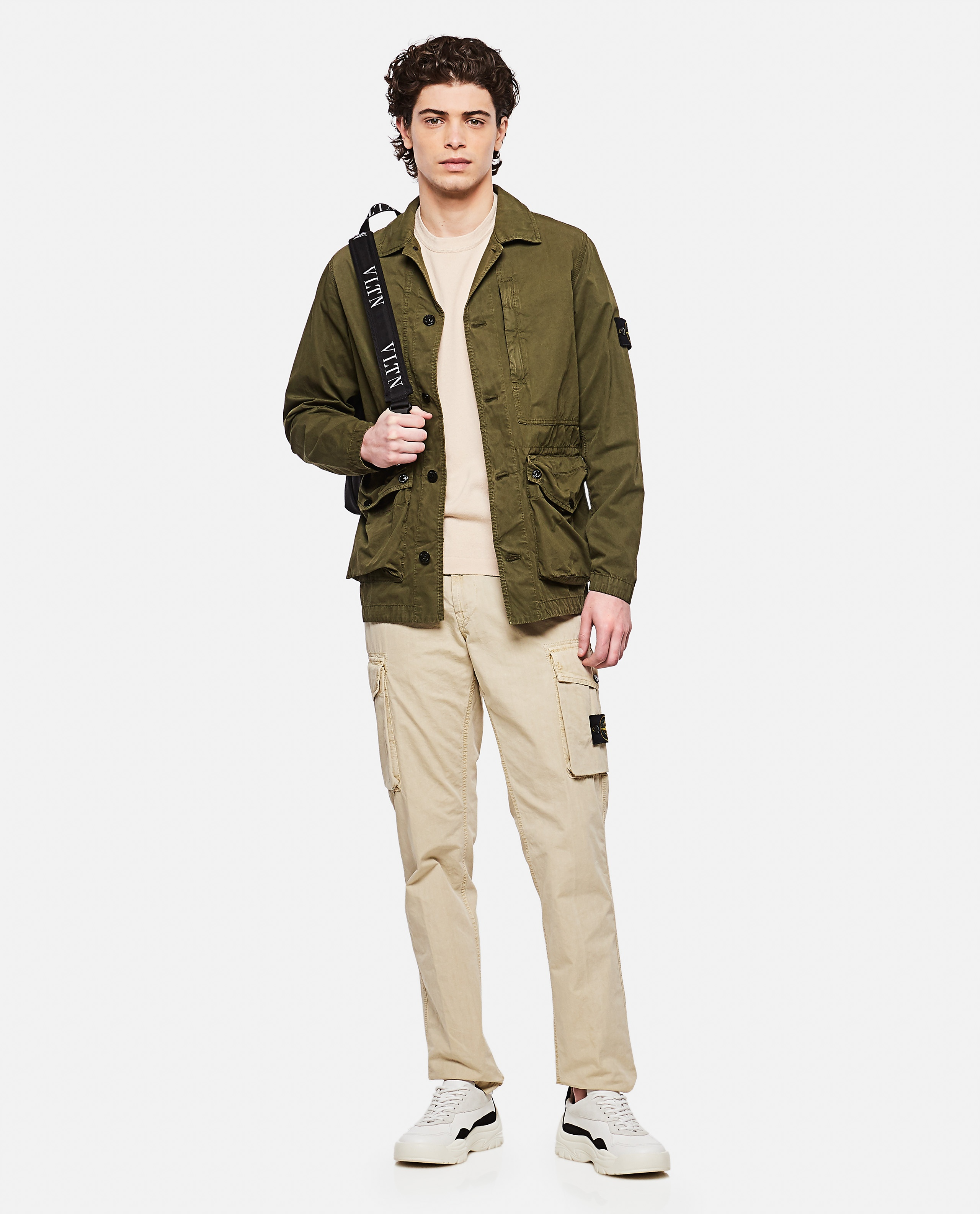 Sweater with logo patch Men Stone Island 000292730043111 2