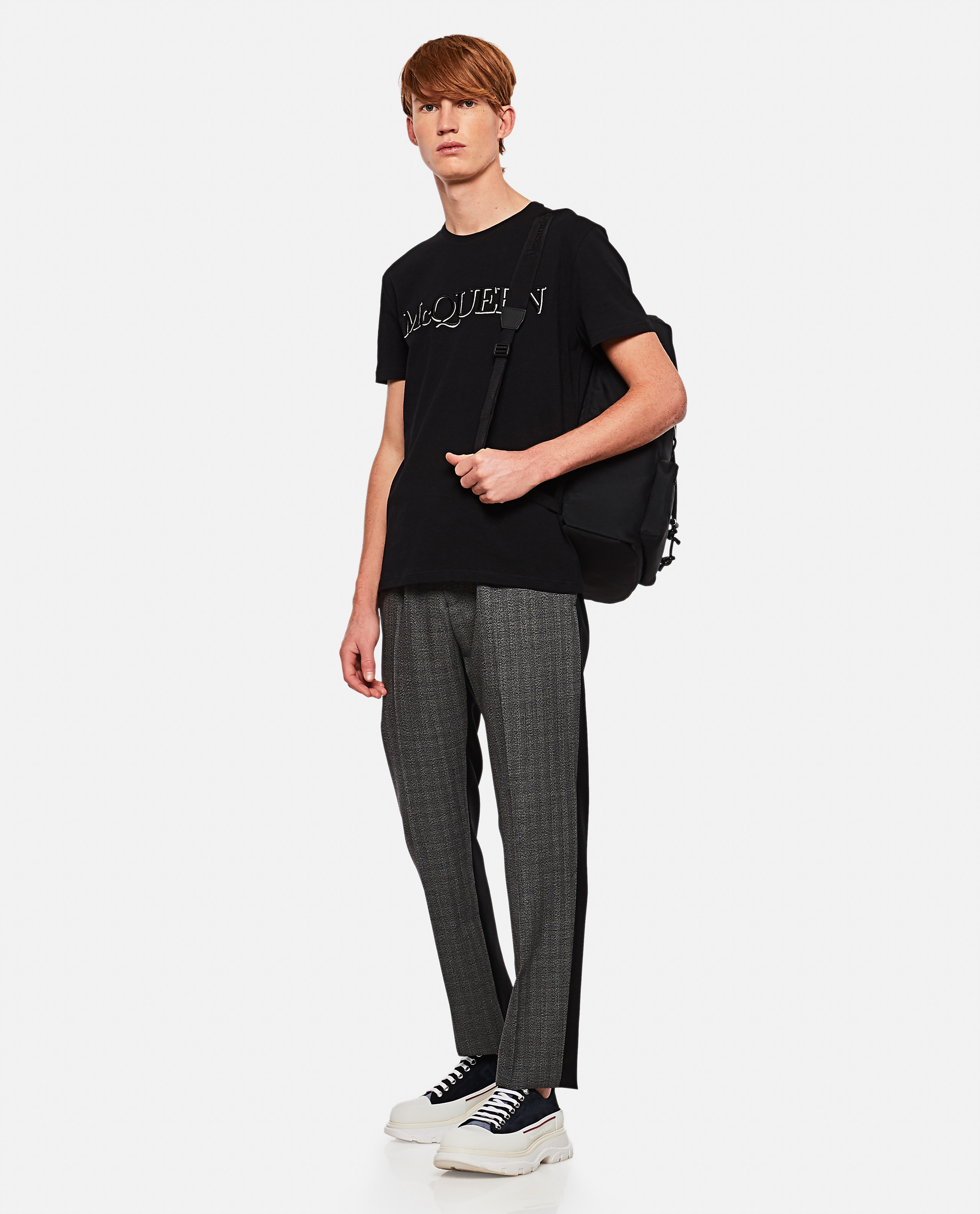 T-shirt with embroidery Men Alexander McQueen 000291000042842 2