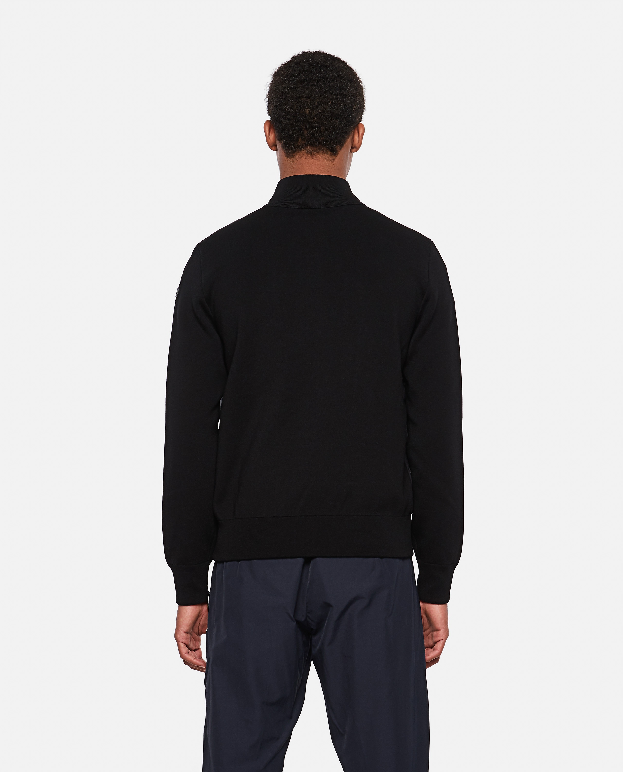 Tricot cardigan with padded detail Men Moncler 000315490046237 3