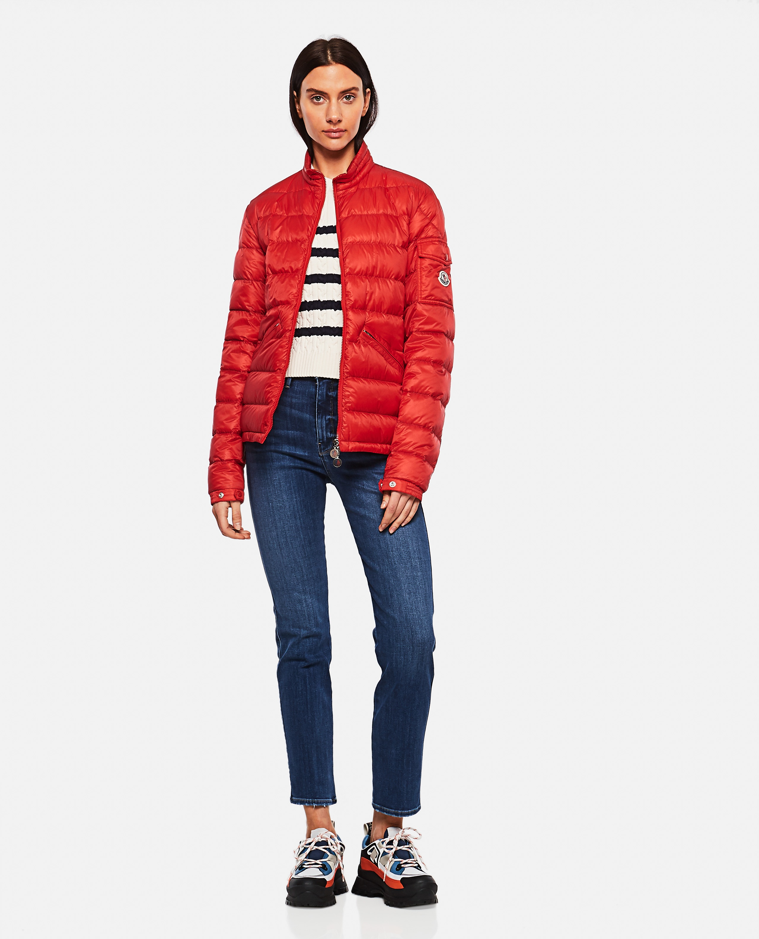 Lightweight quilted nylon Longue Saison AGAY down jacket  Men Moncler 000221870032840 2