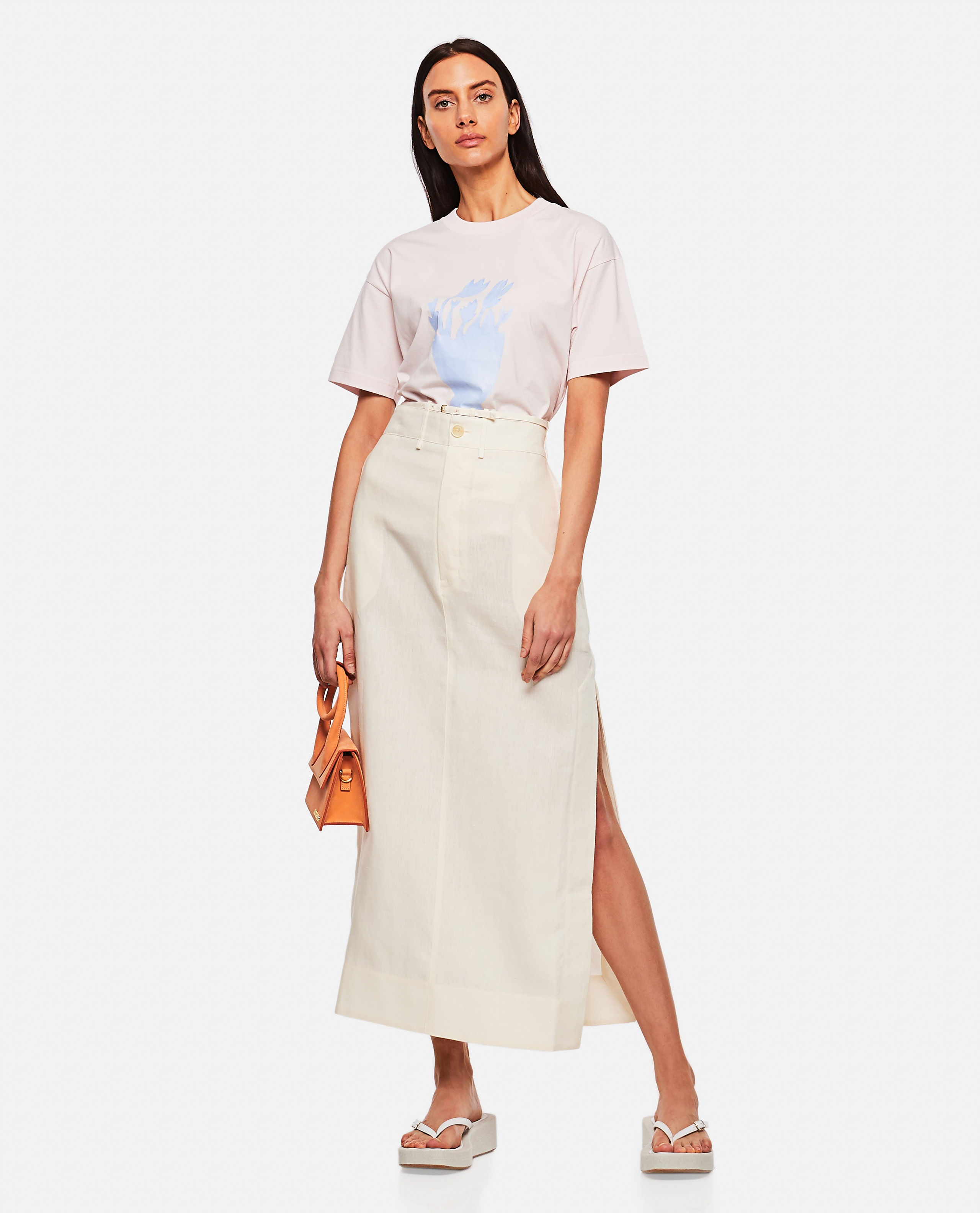 T-shirt in cotone con stampa Donna Jacquemus 000302340044402 2