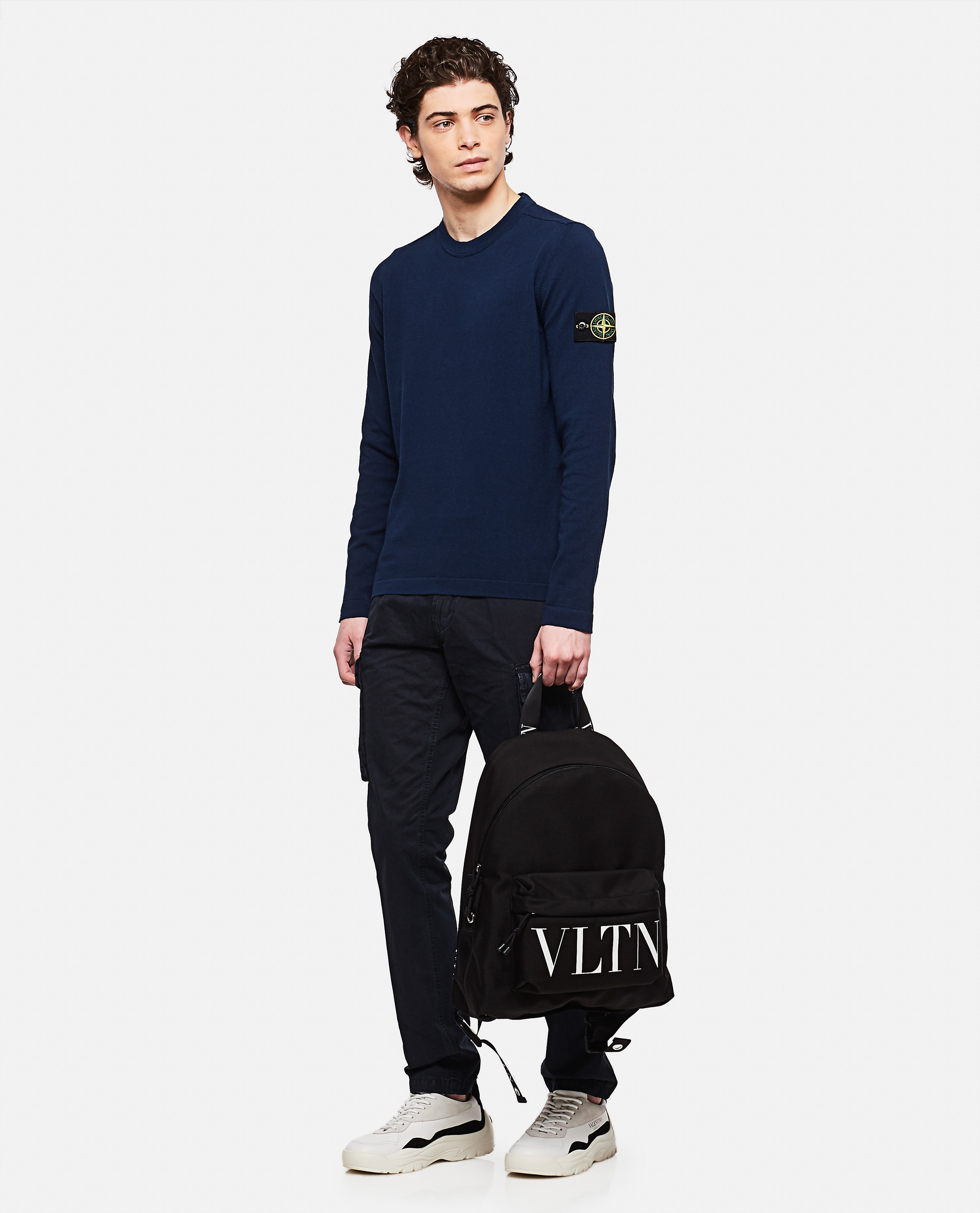 Sweater with logo patch Men Stone Island 000292730043109 2