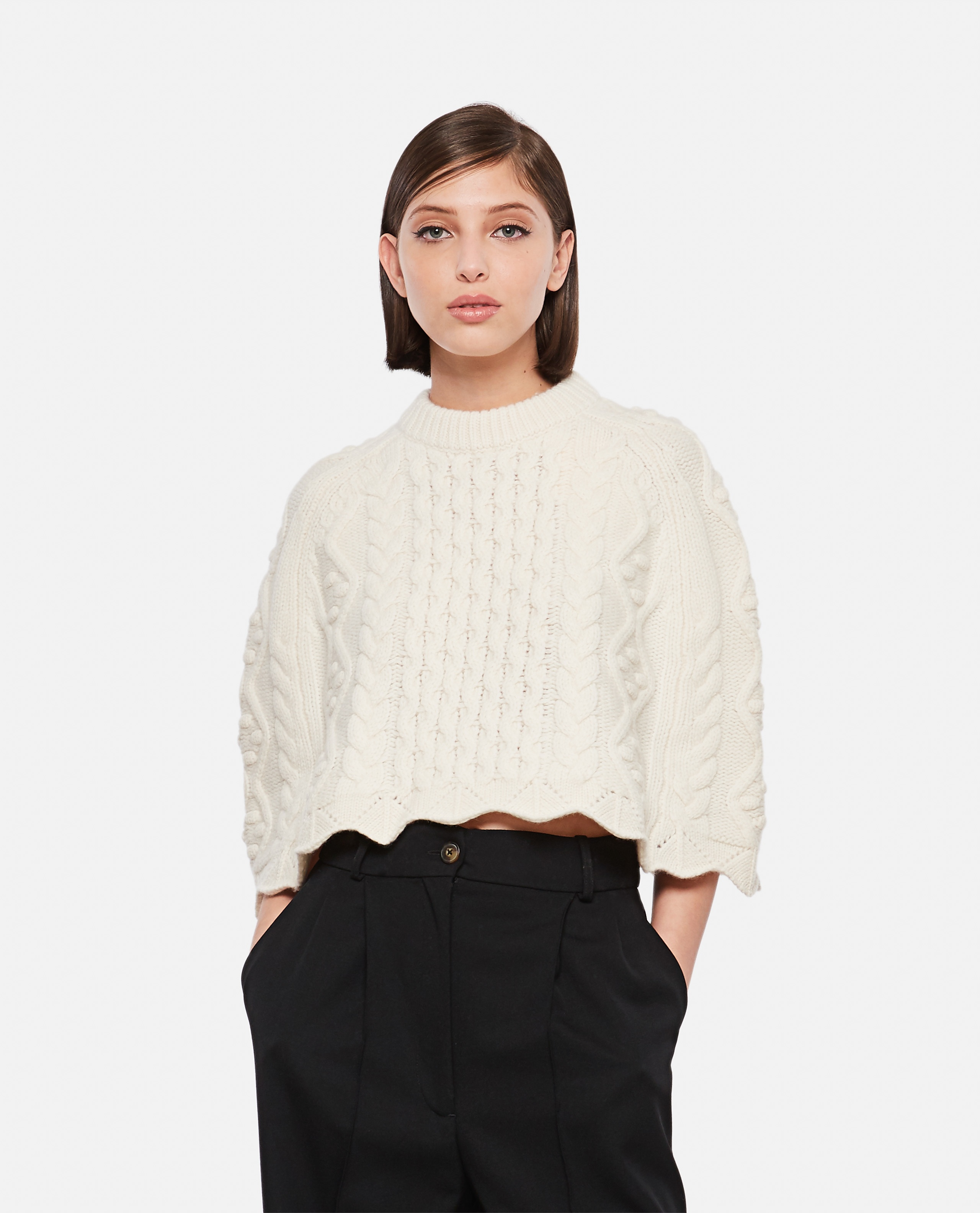 BEIRO WOOL AND CASHMERE CAPE Women Loulou Studio 000345690050421 1