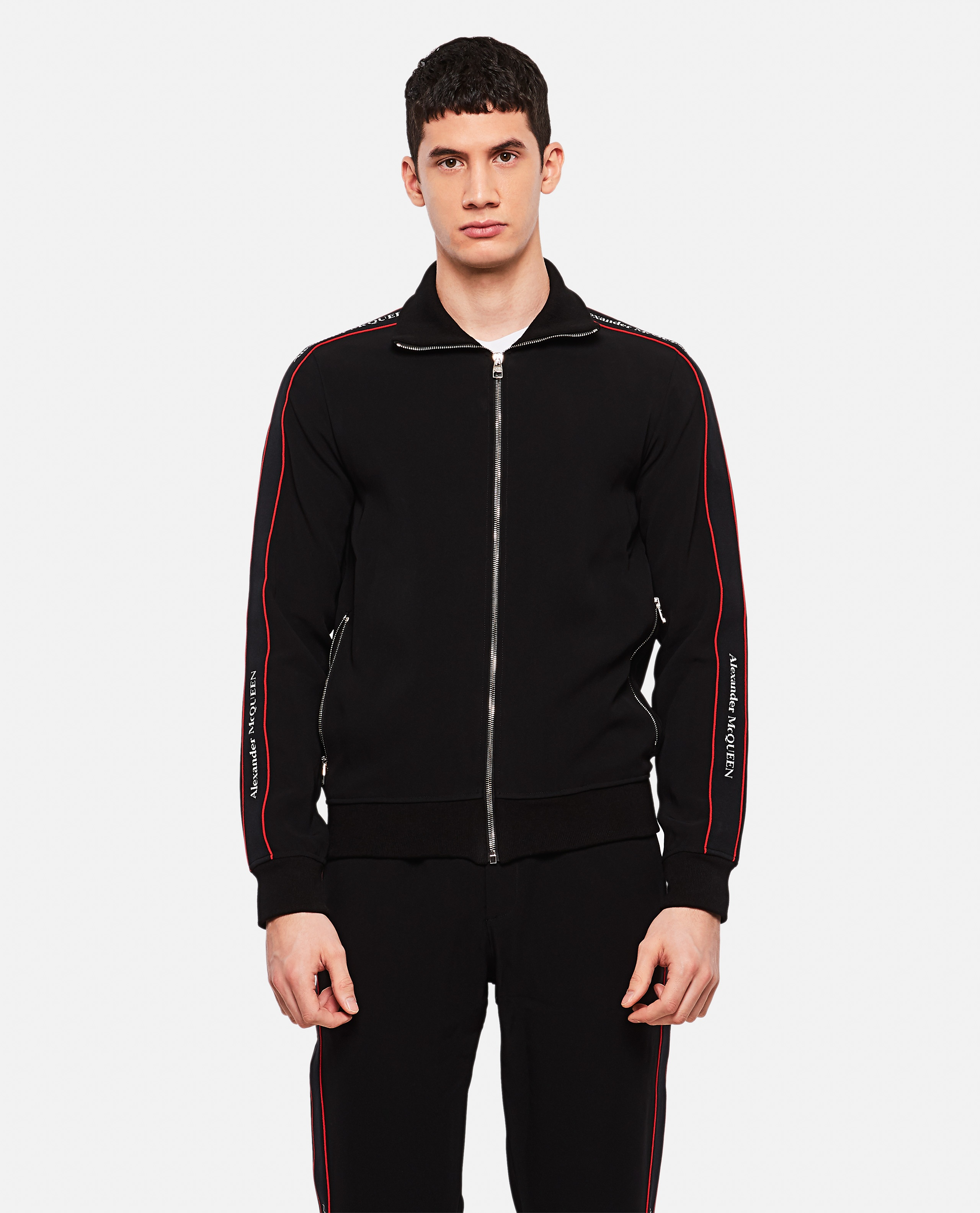 Sports jacket with side band Men Alexander McQueen 000214960031909 1