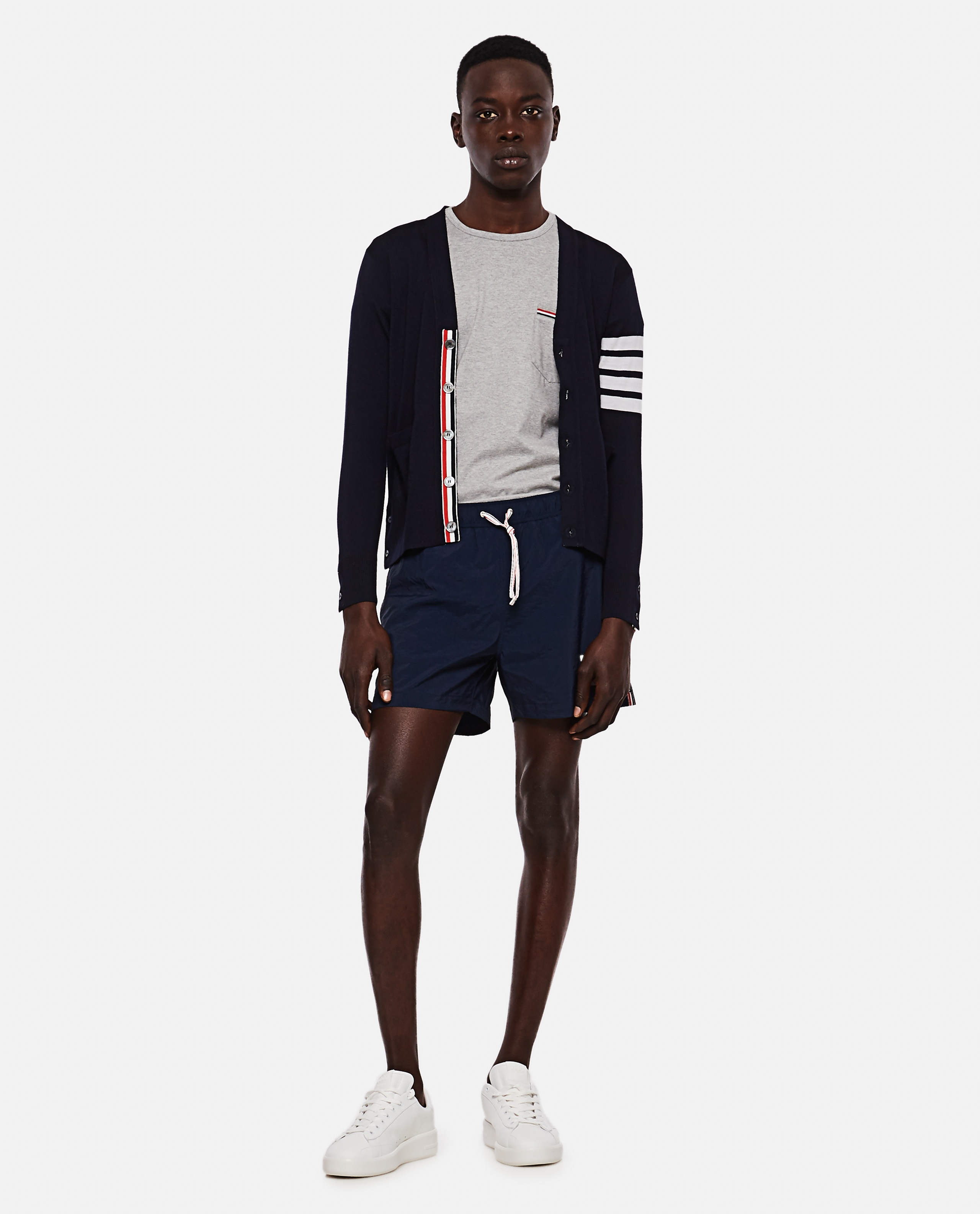 Thom Browne boxer costume in nylon with logo Men Thom Browne 000294780043363 2