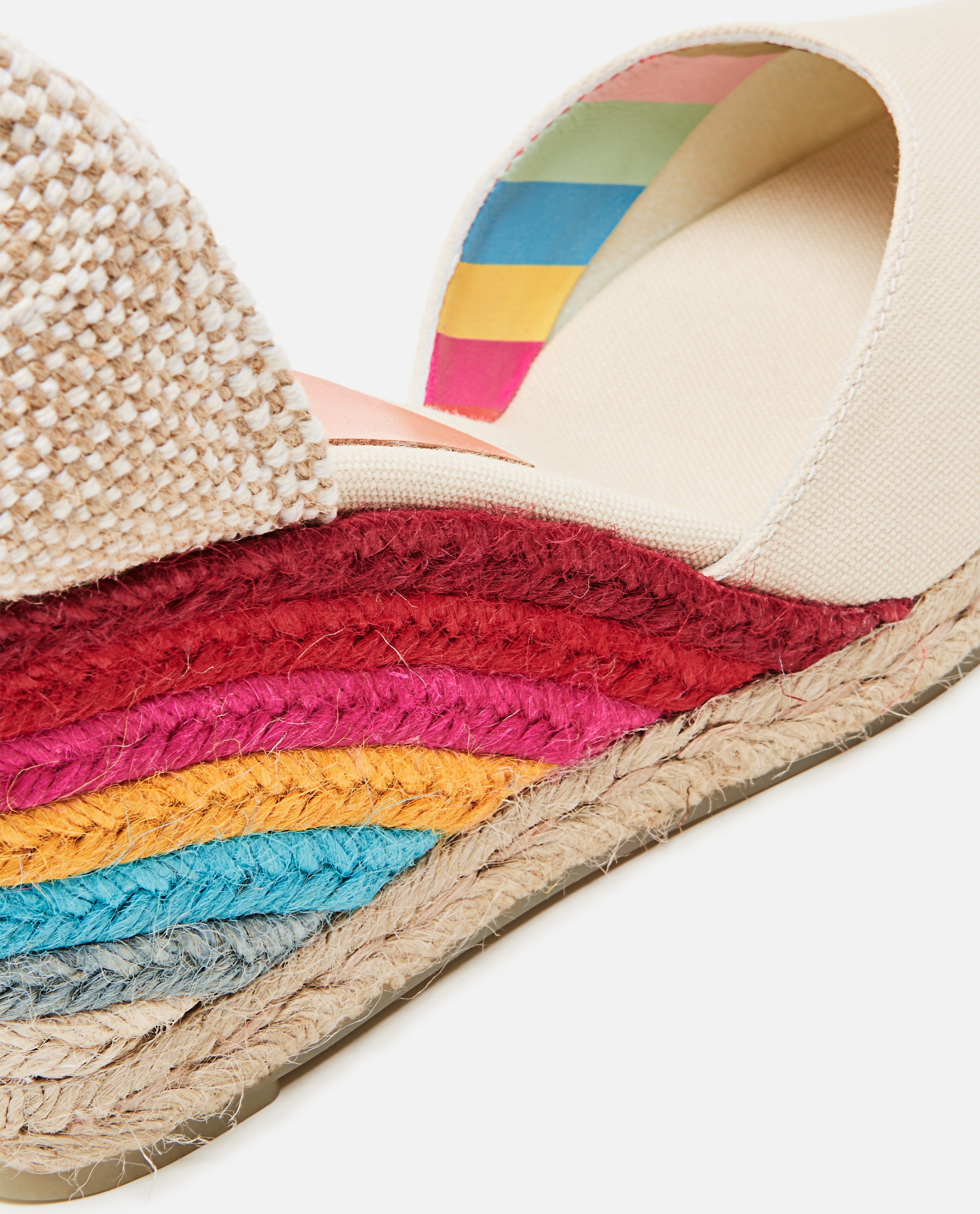 Castañer by Paul Smith. Espadrilles in tela con zeppa 9cm Donna Castaner 000286220042242 4