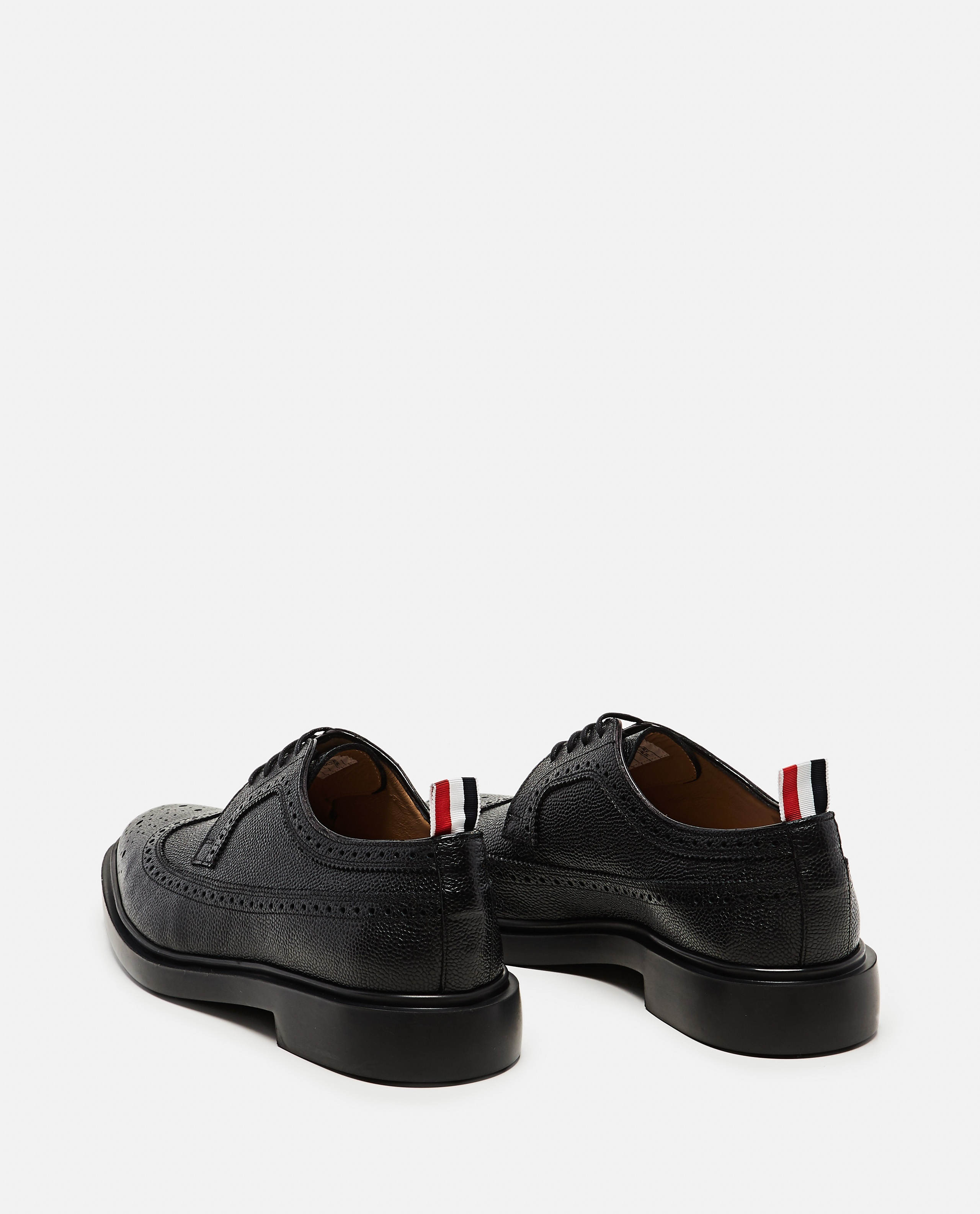 Textured leather  Lace-up derby with dovetail brogue motif Men Thom Browne 000080390012583 3