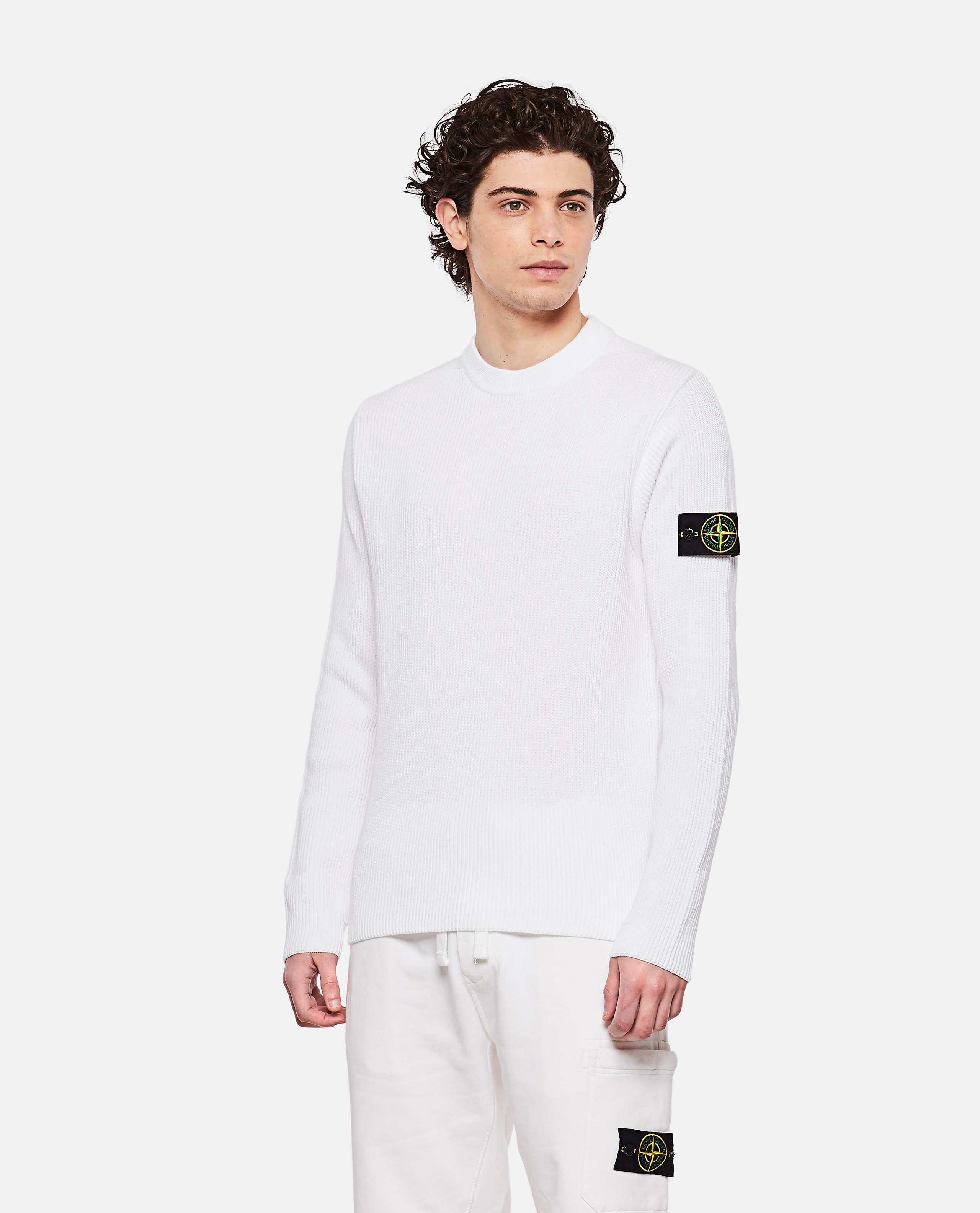 Sweater with logo patch Men Stone Island 000292760043117 1