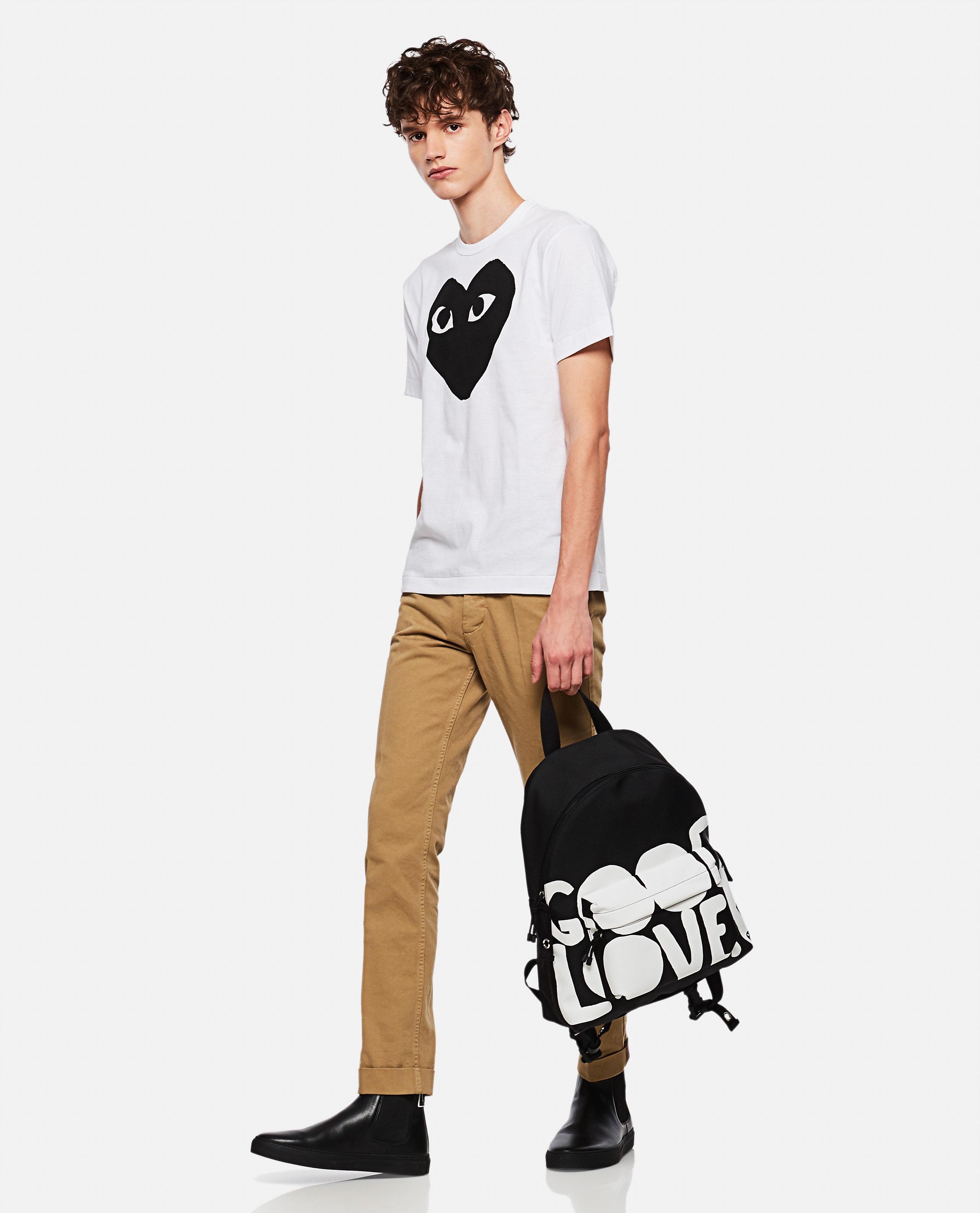 T-shirt with hearts print Men Comme des Garcons Play 000106990016295 2