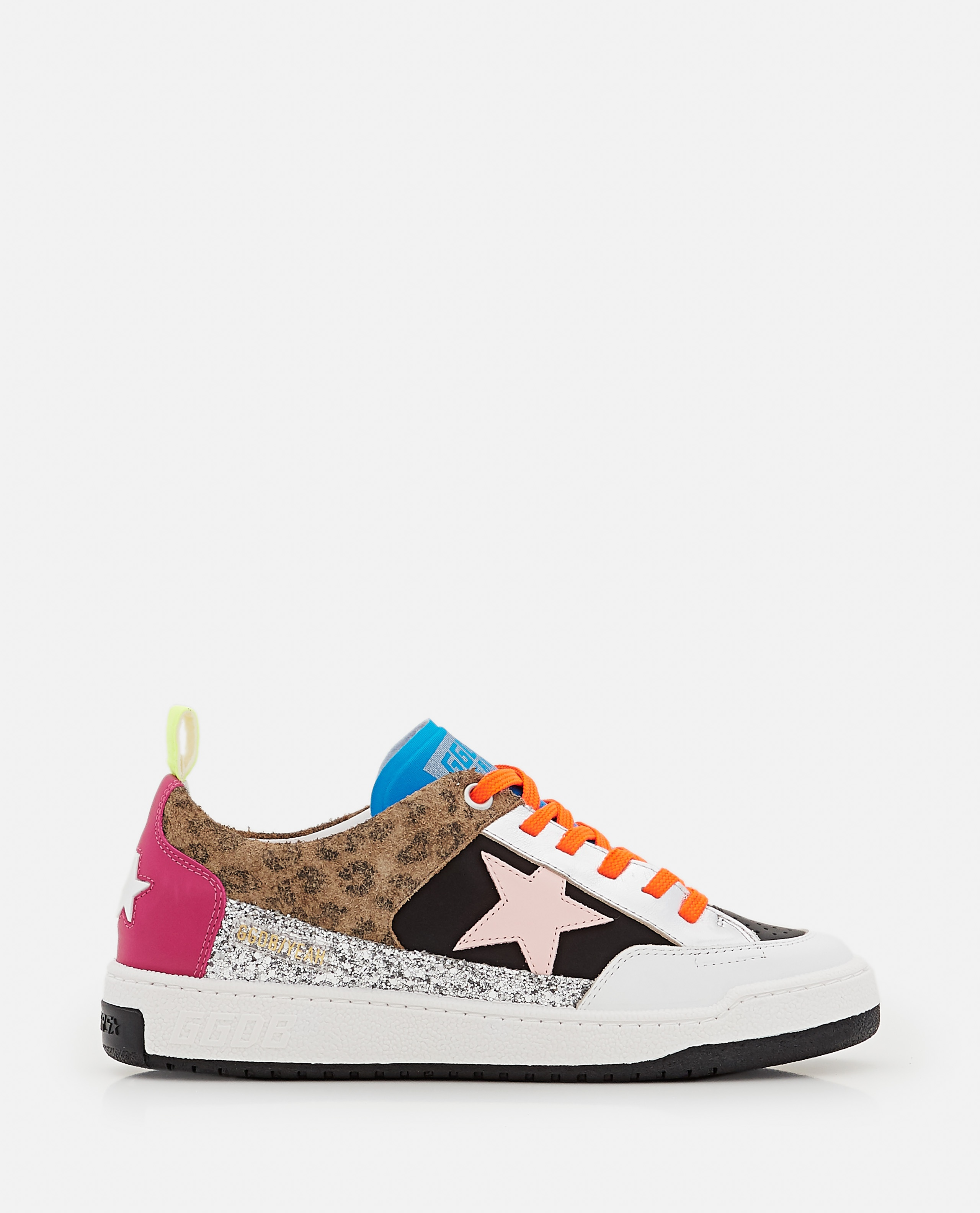 YEAH NYLON AND LEATHER SNEAKERS  Women Golden Goose 000322380047133 1