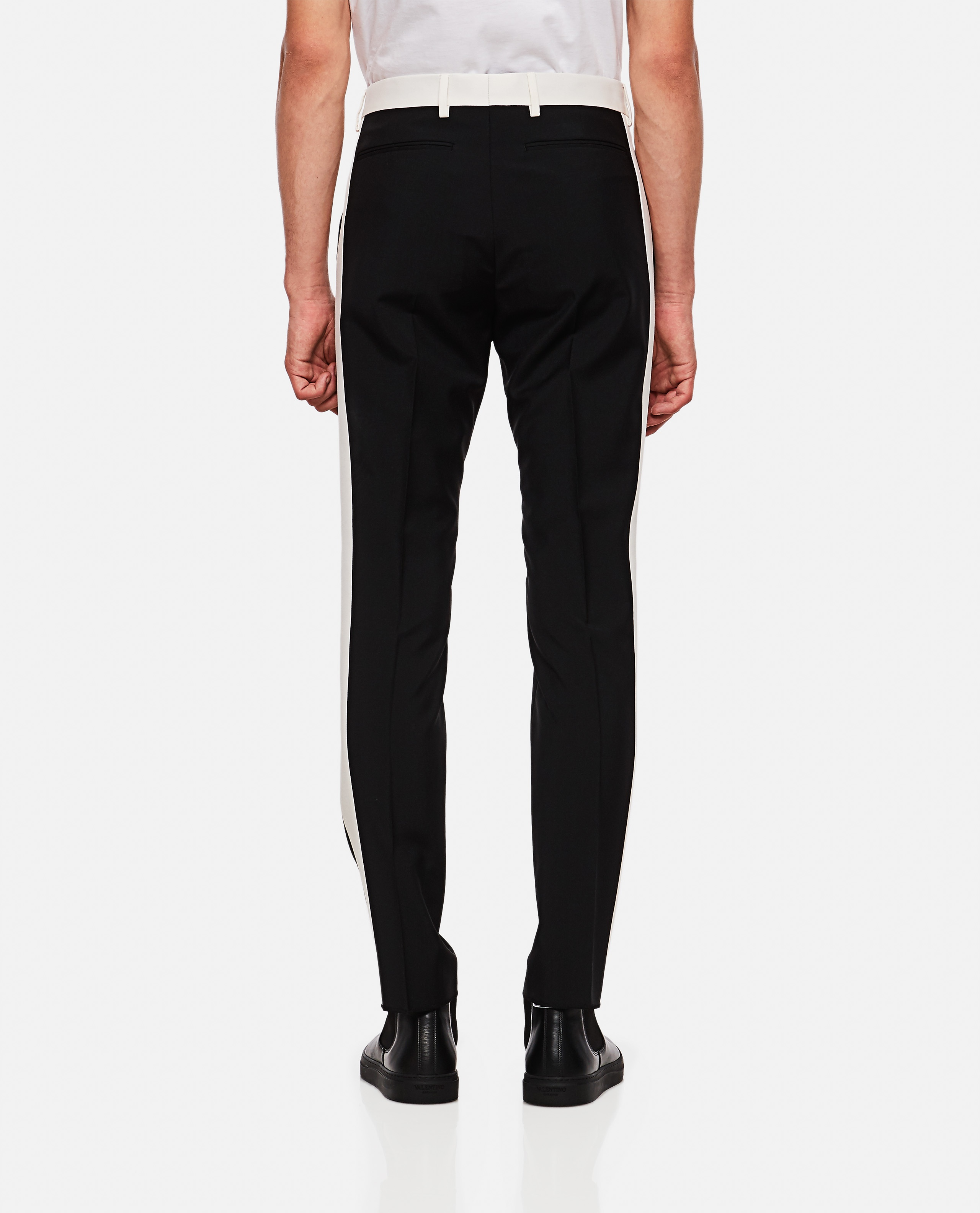 Trousers with side bands Men Valentino 000263920039003 3
