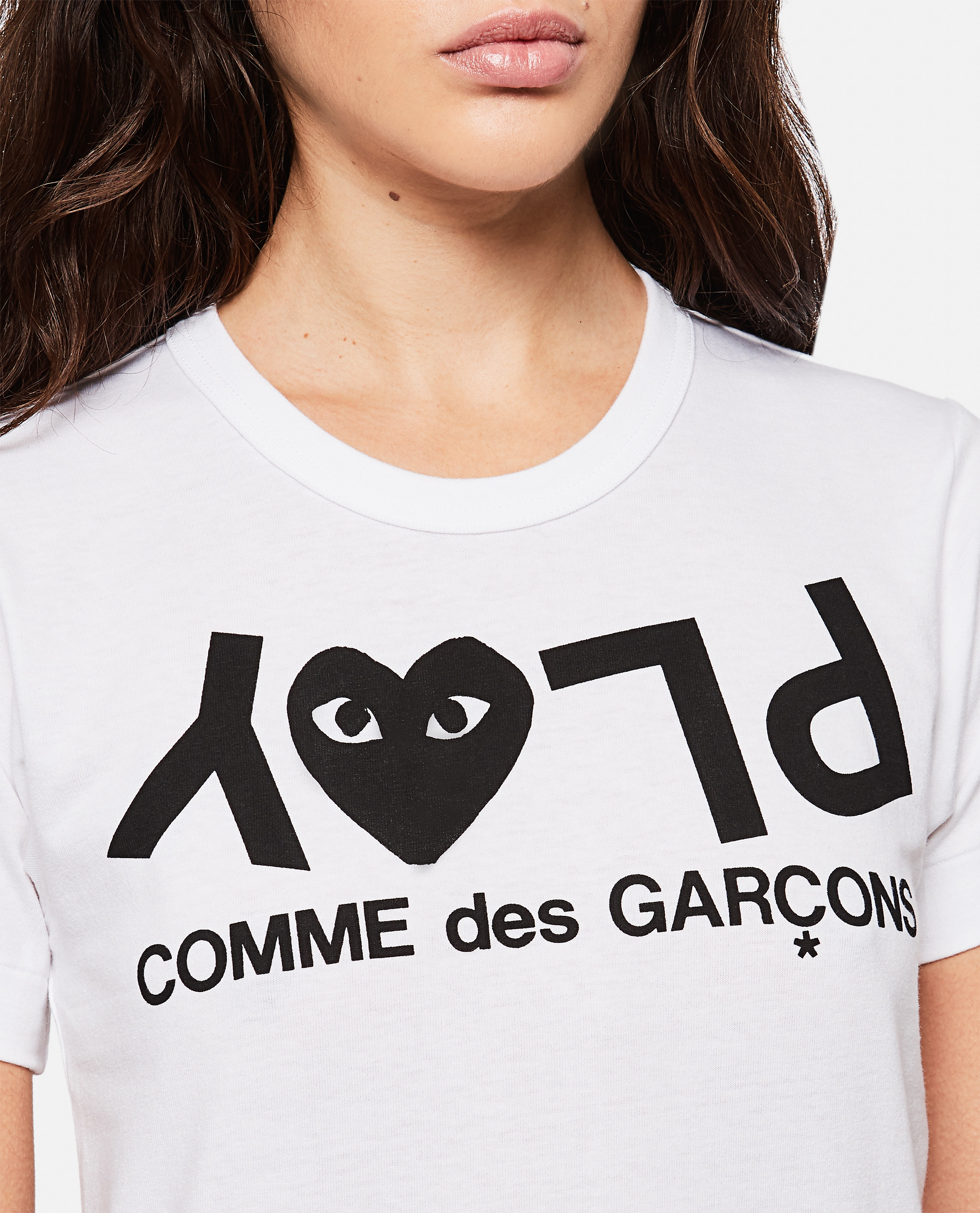 T-shirt with logo print Women Comme des Garcons Play 000267320039445 4