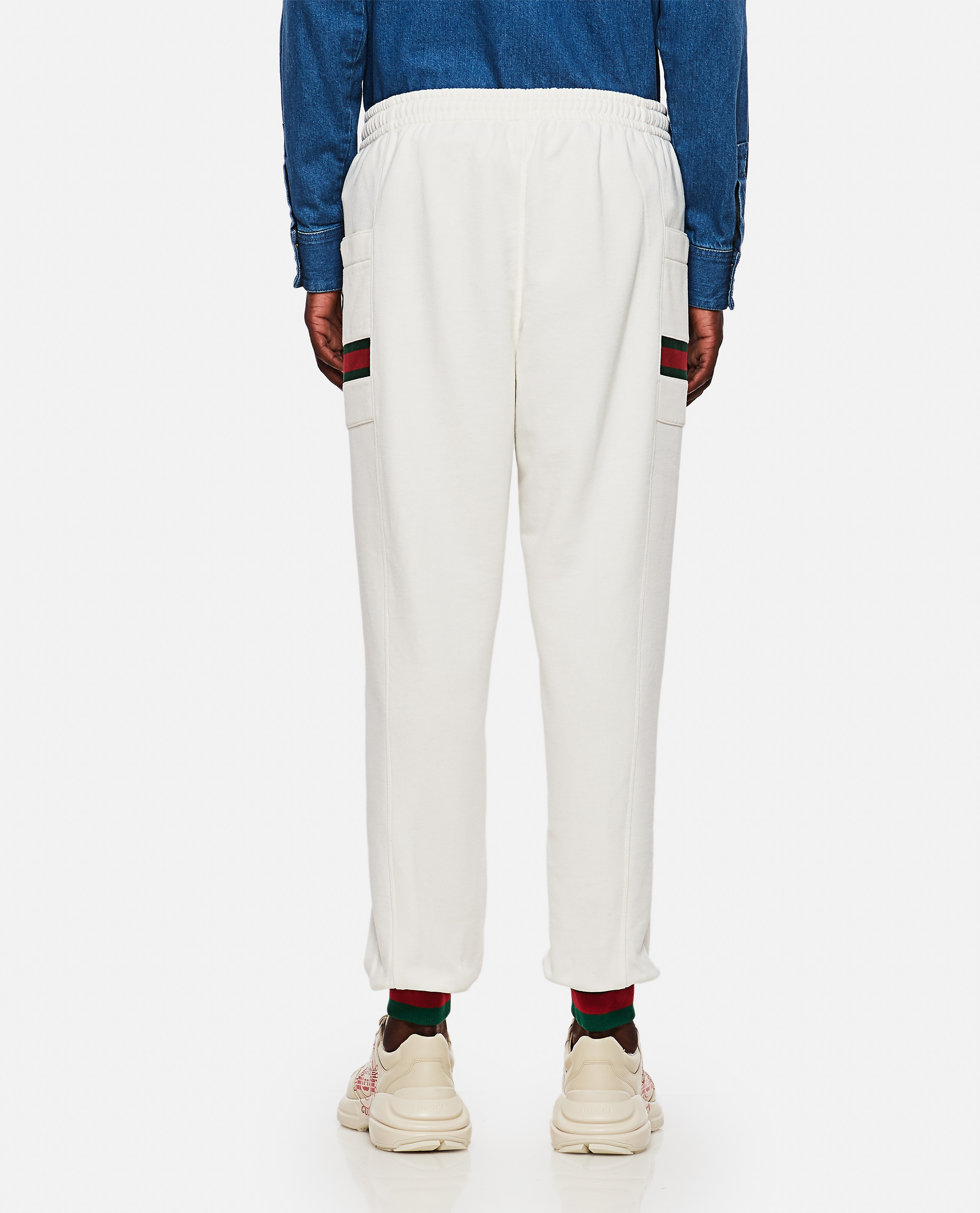 Jersey jogging trousers with Web ribbon Men Gucci 000267660039487 3