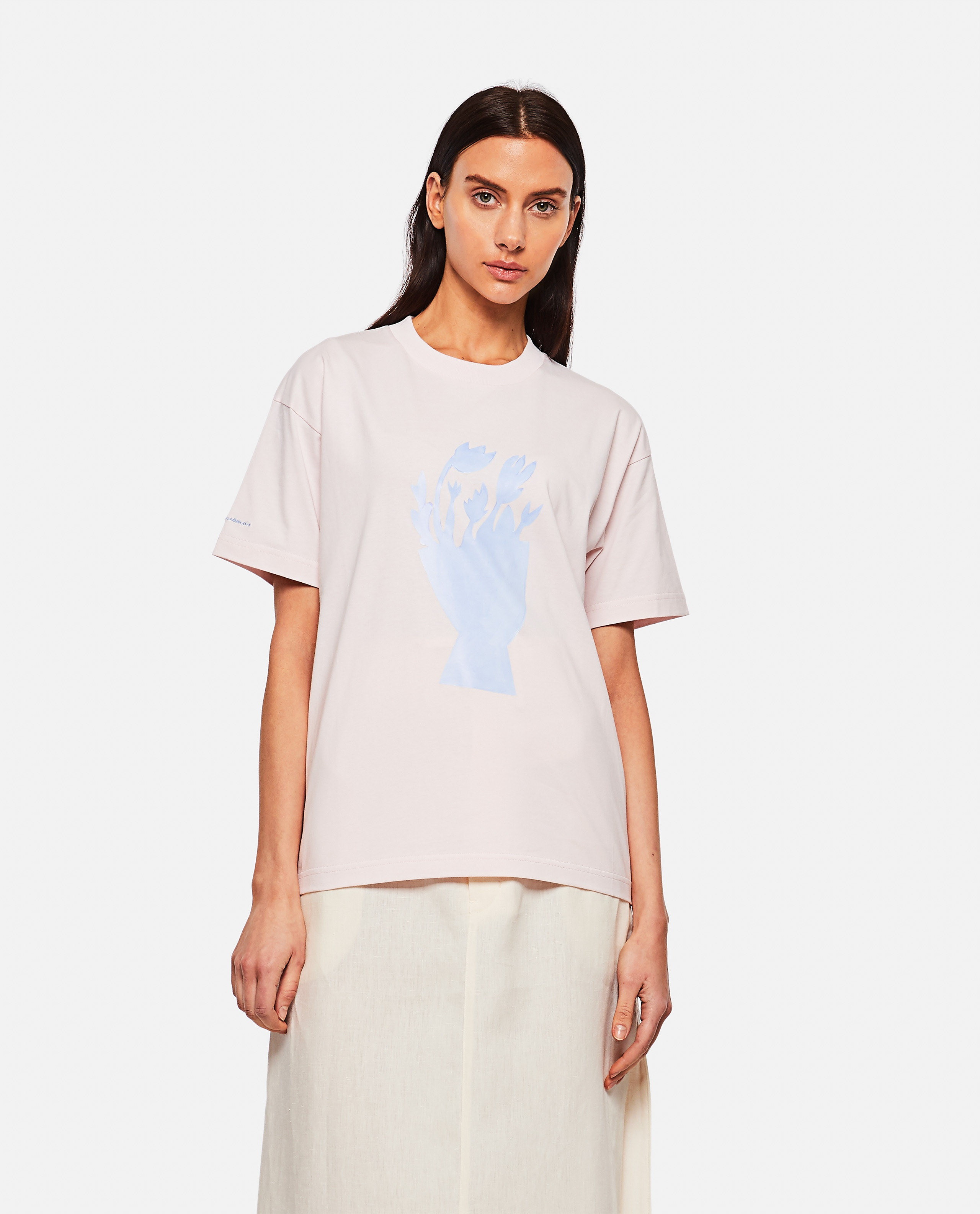 T-shirt in cotone con stampa Donna Jacquemus 000302340044402 1