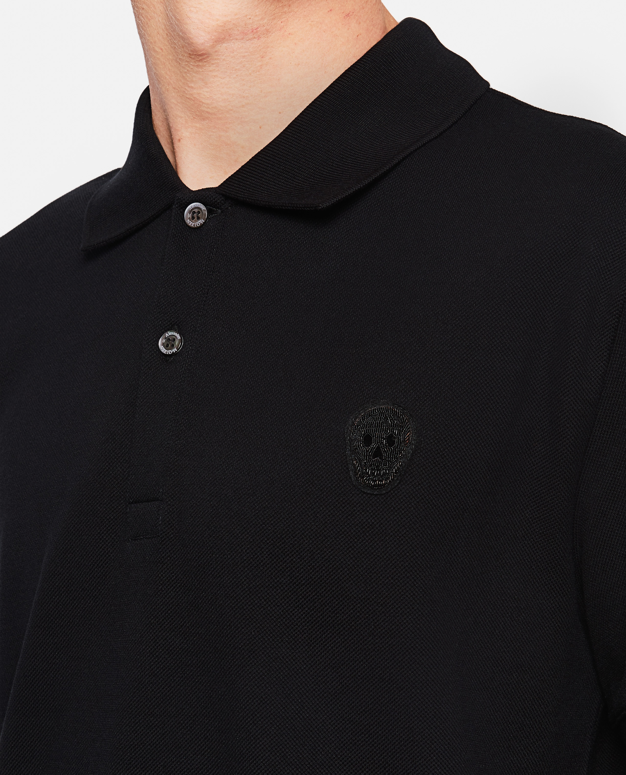 Piquet polo shirt Men Alexander McQueen 000291050042848 4